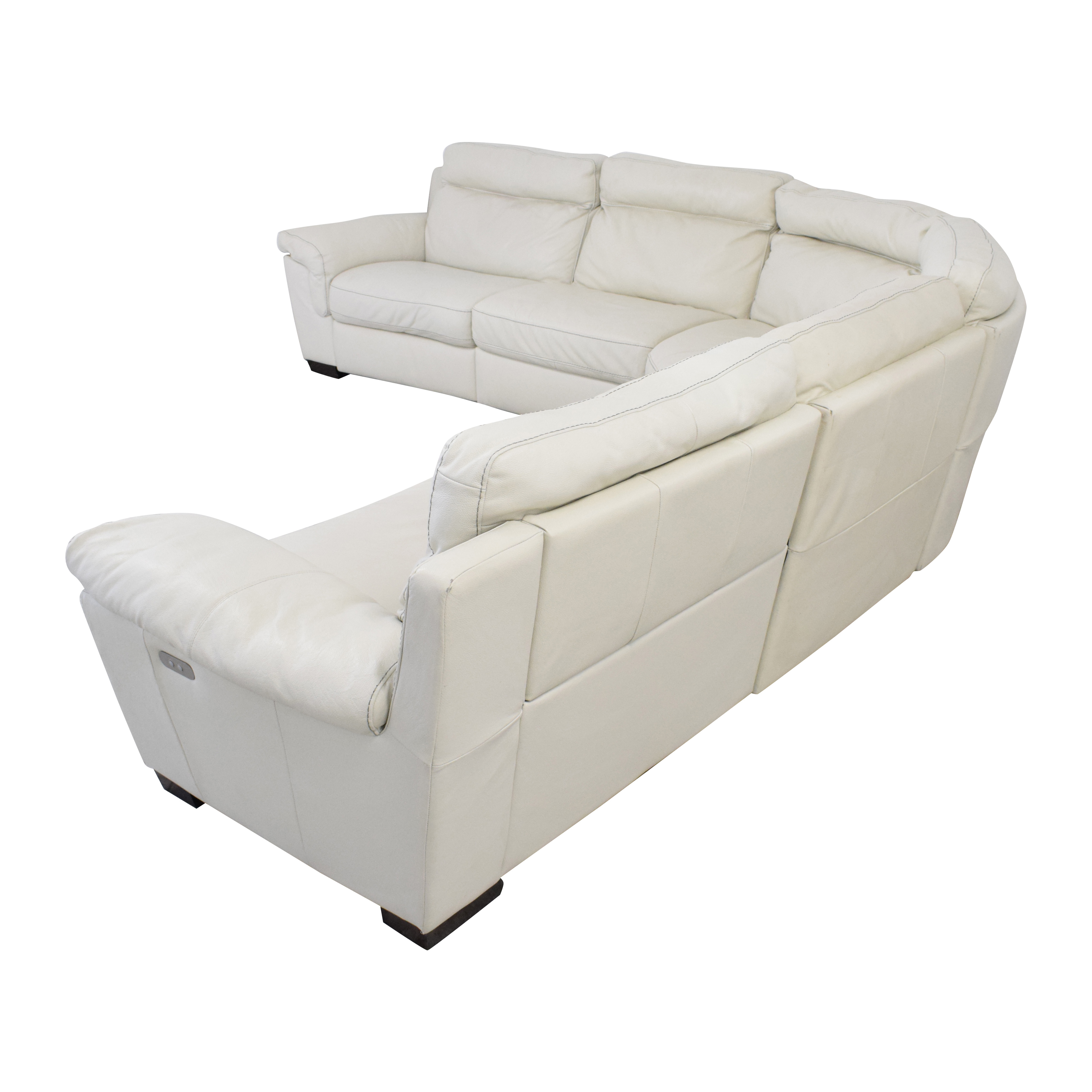 Macy's Macy's Leather Sectional Sofa with Reclining Seats Sofas