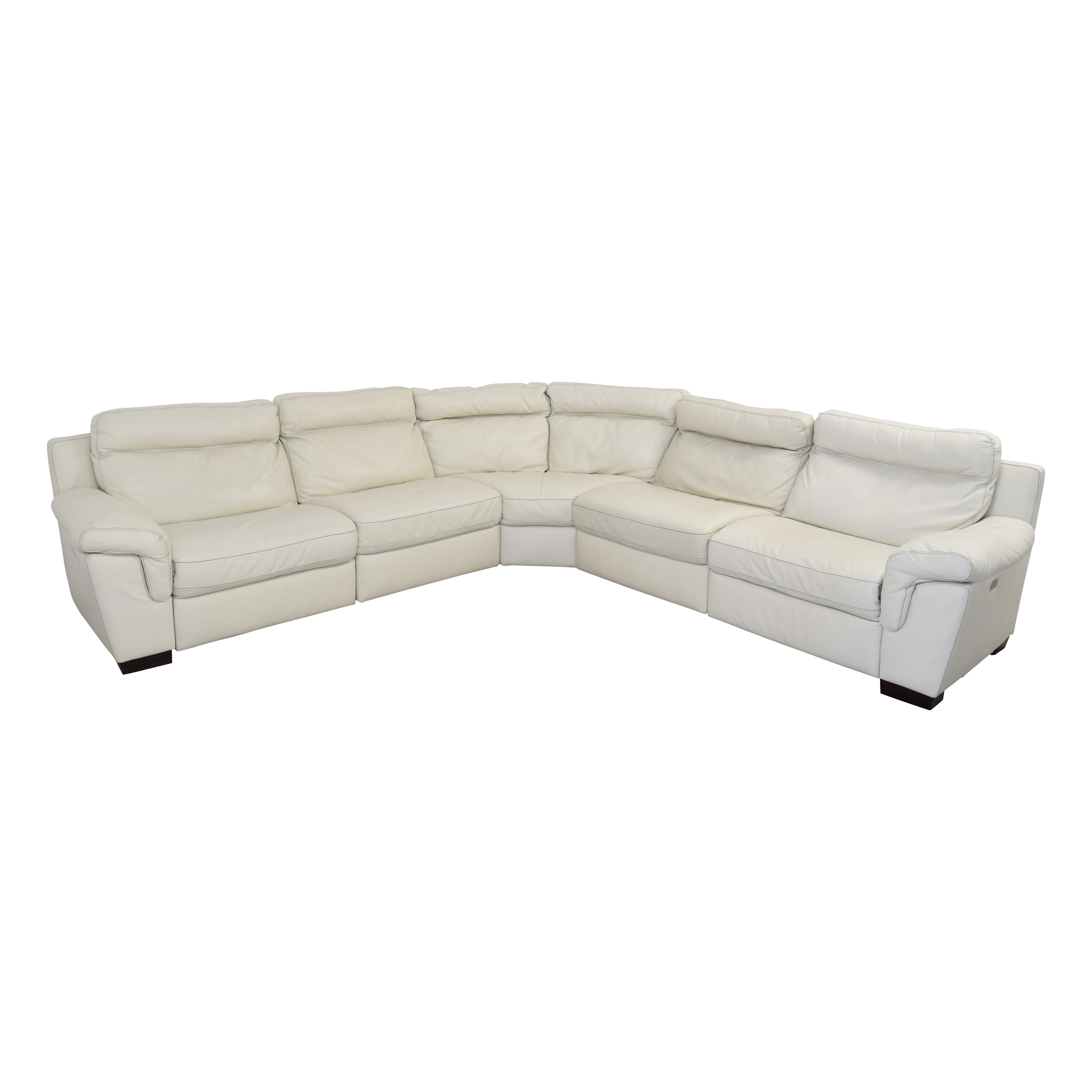 Macy's Leather Sectional Sofa with Reclining Seats sale