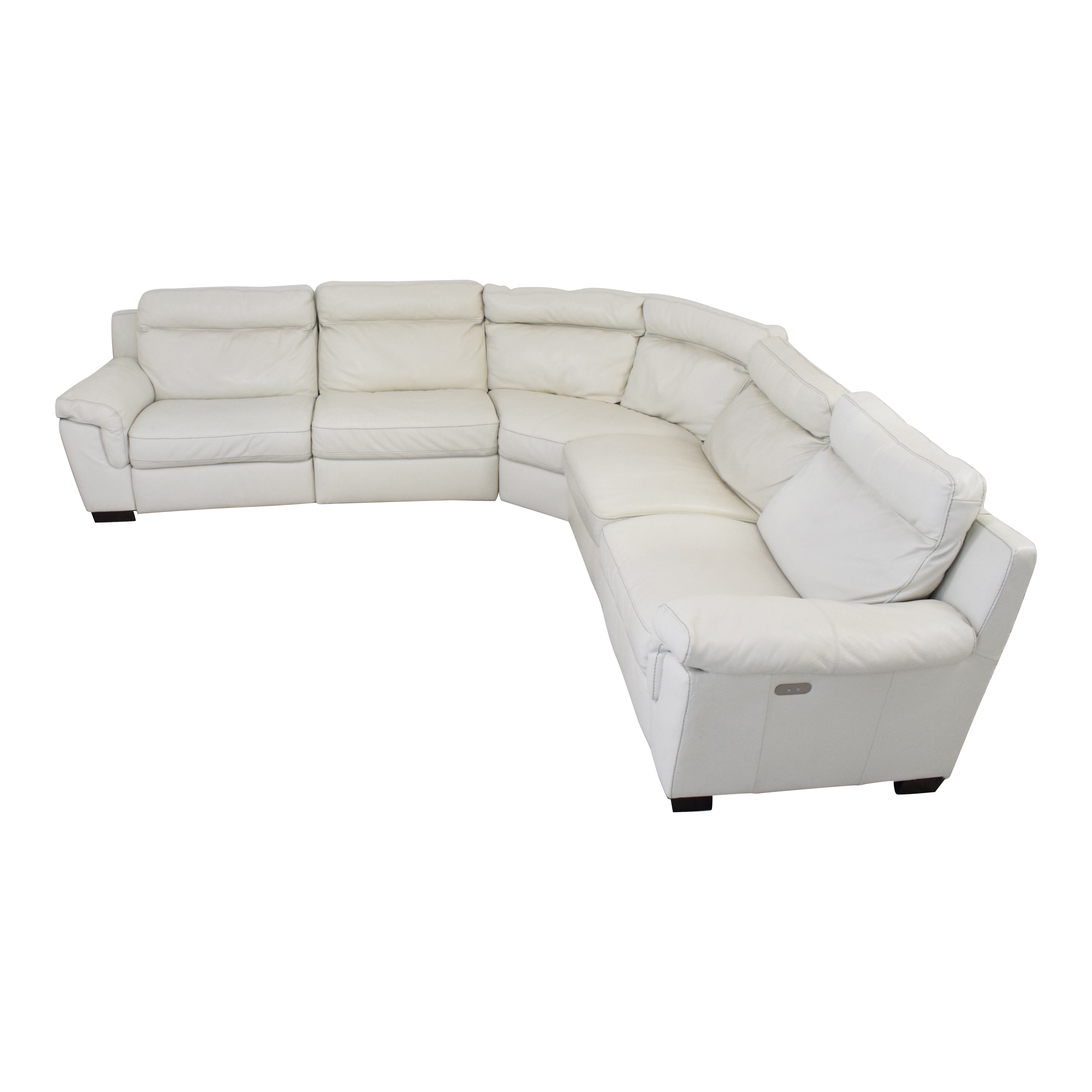 Macy's Leather Sectional Sofa with Reclining Seats / Sectionals