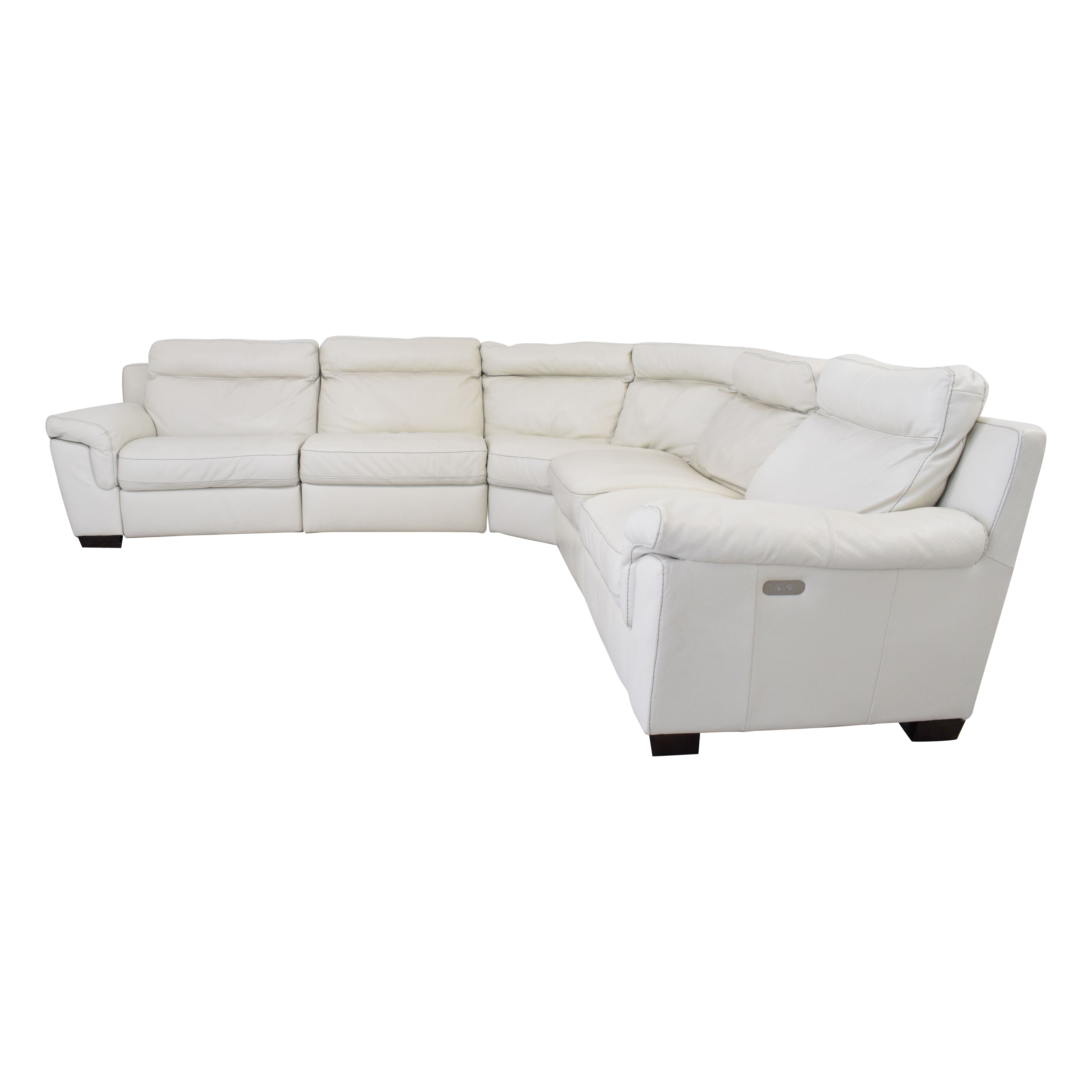 Macy's Macy's Leather Sectional Sofa with Reclining Seats dimensions