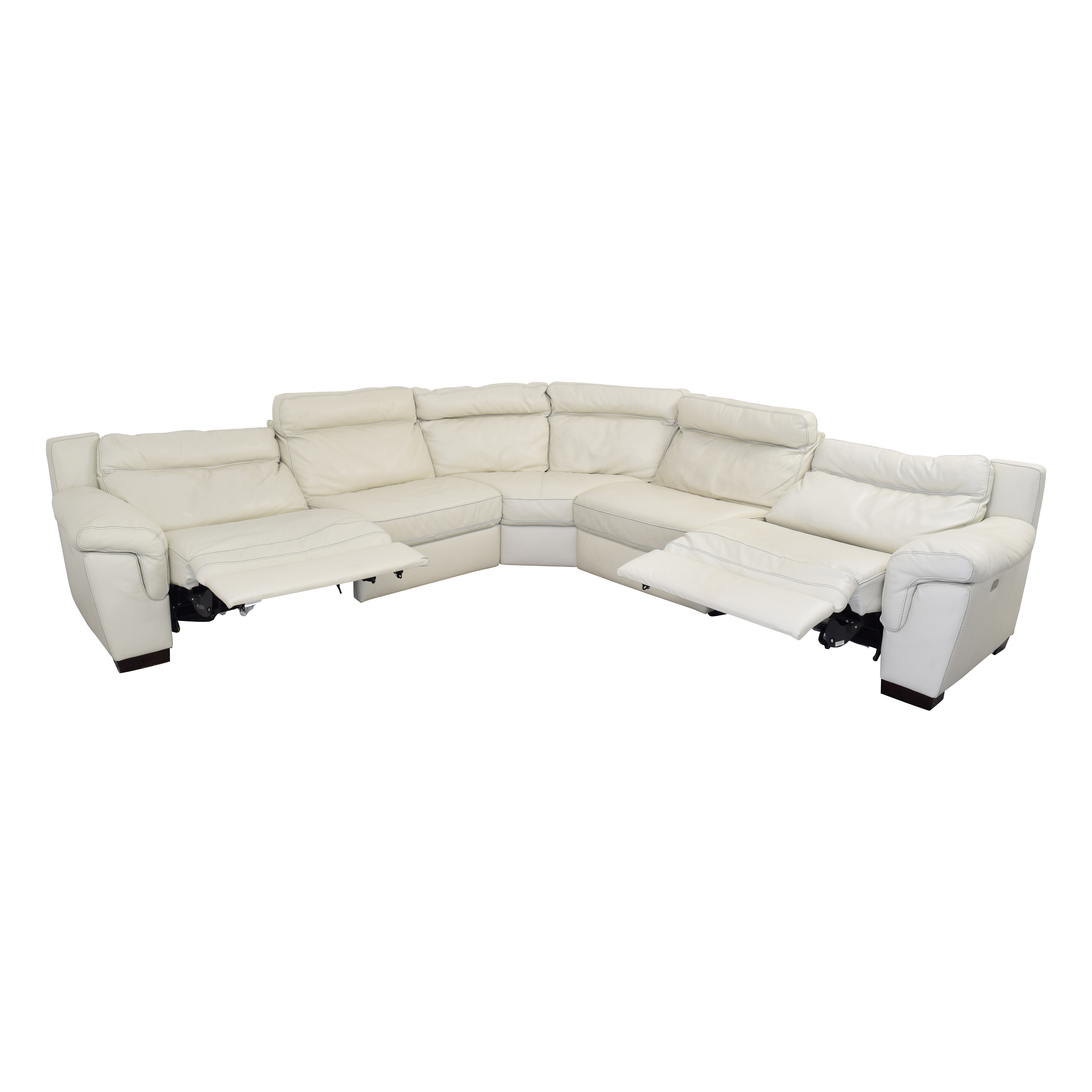 Macy's Macy's Leather Sectional Sofa with Reclining Seats used