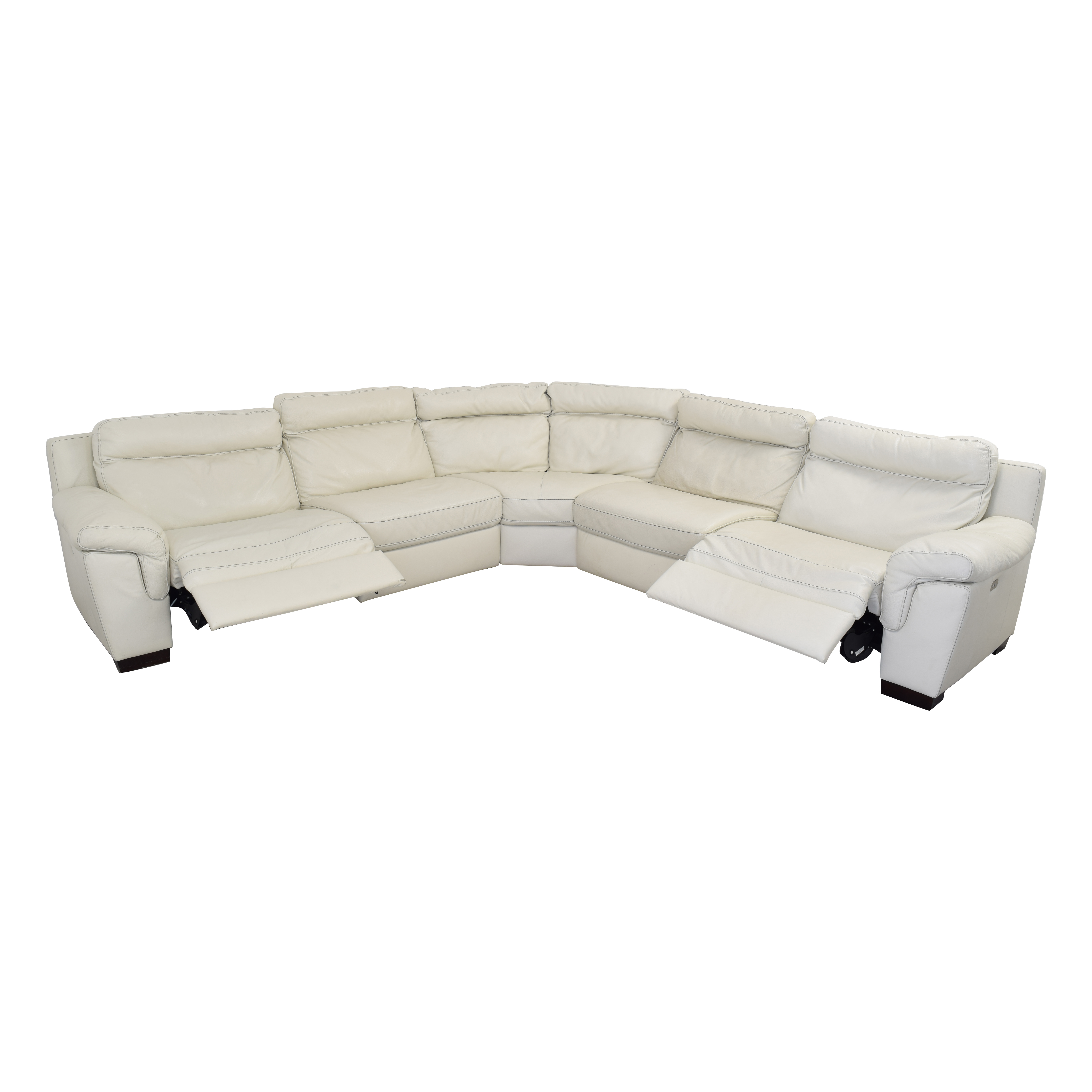 buy Macy's Leather Sectional Sofa with Reclining Seats Macy's Sectionals