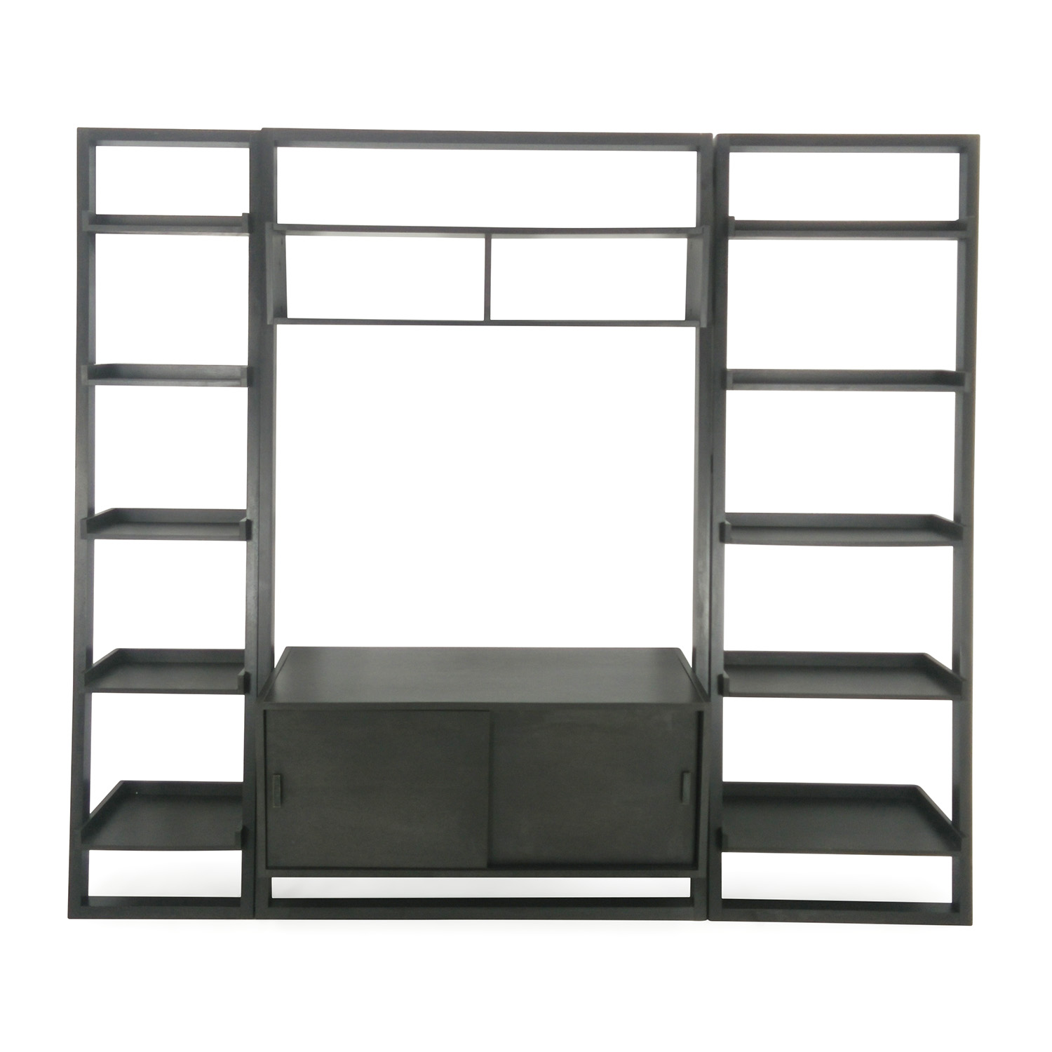 shop Crate and Barrel Leaning Media Stand Crate and Barrel Media Units