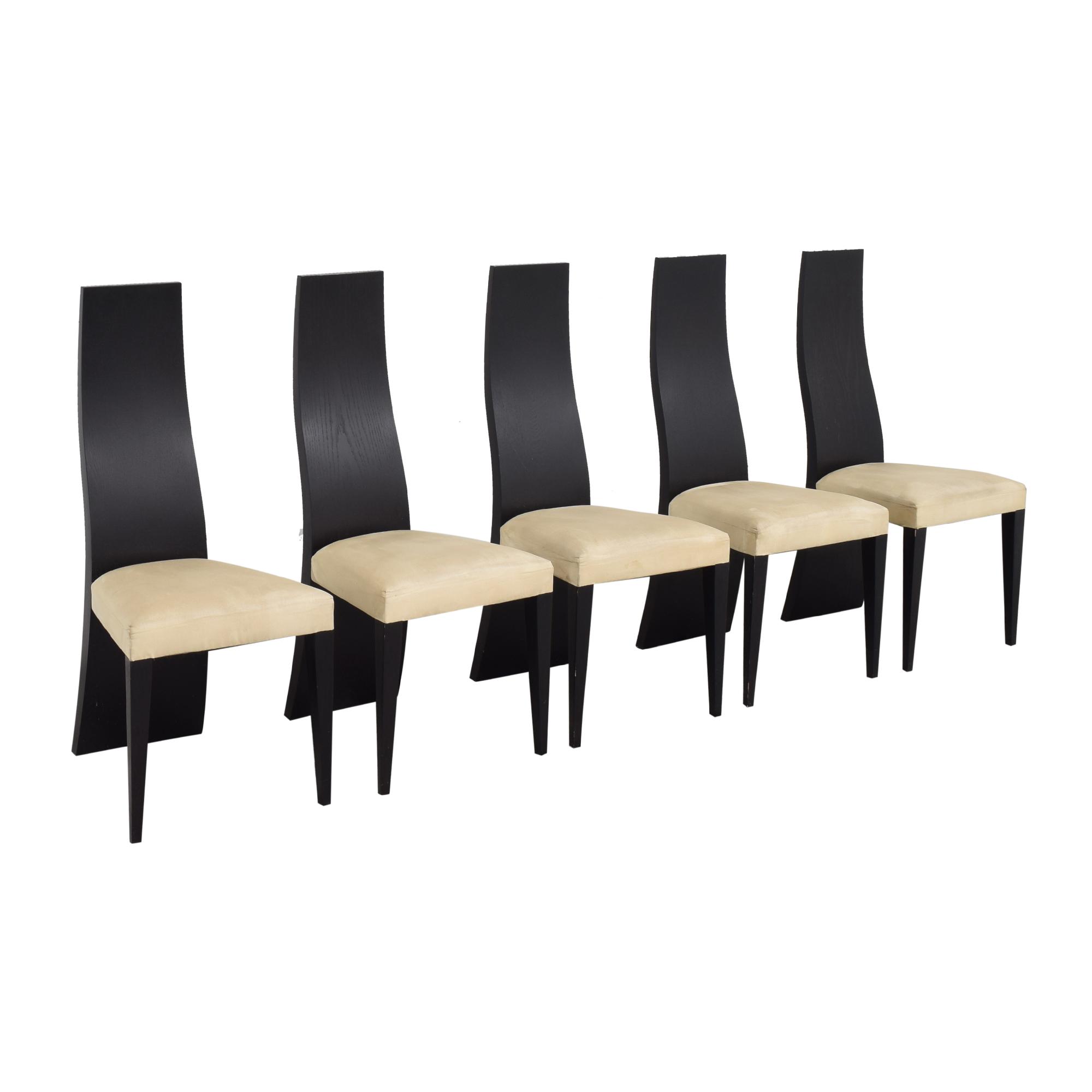 buy La Maison Contemporaine Solid Back Dining Chairs La Maison Contemporaine Dining Chairs