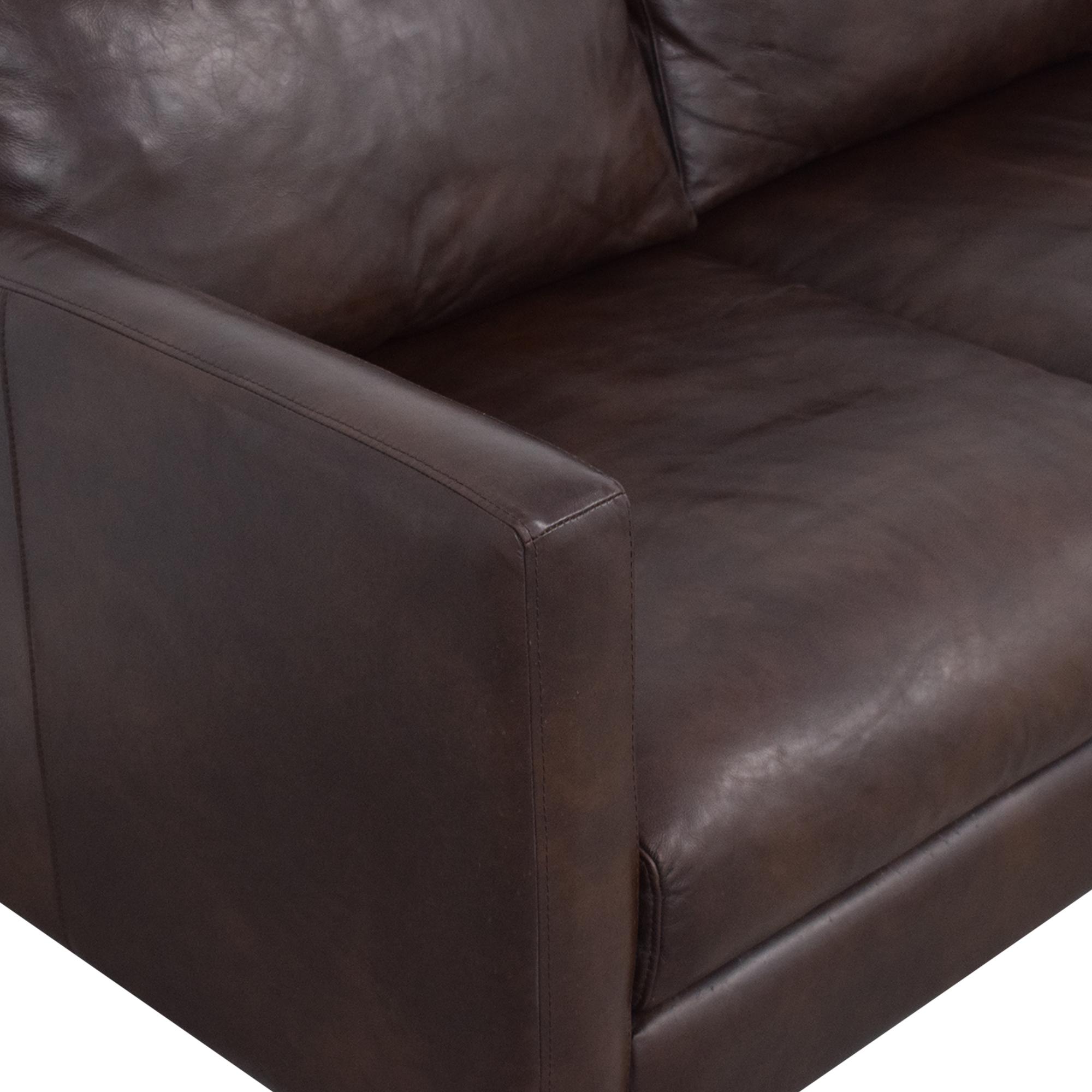 shop Strick & Bolton Strick & Bolton Beatnik Oxford Brown Leather Sofa online