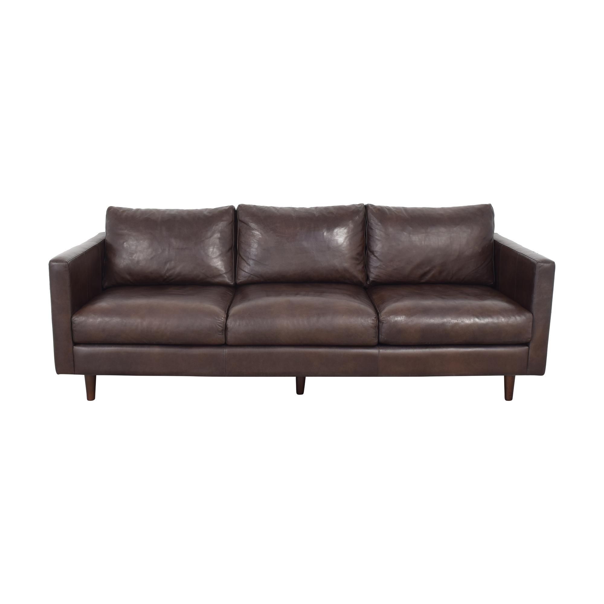 Strick & Bolton Strick & Bolton Beatnik Oxford Brown Leather Sofa ct