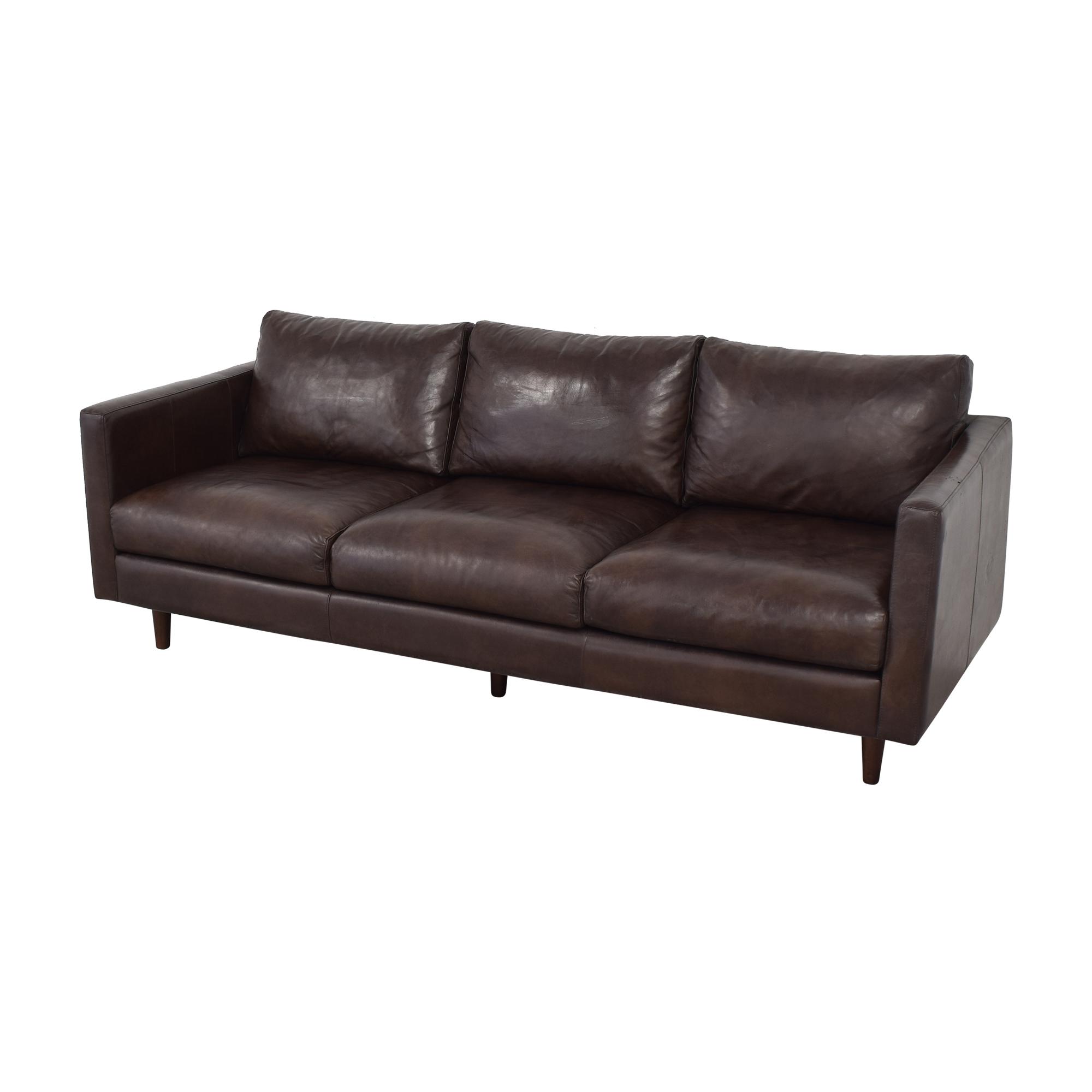 buy Strick & Bolton Beatnik Oxford Brown Leather Sofa Strick & Bolton Classic Sofas