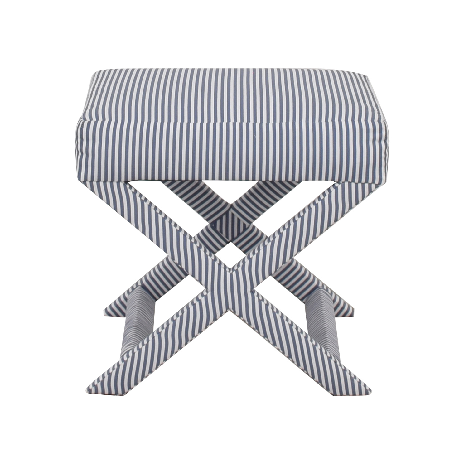 shop The Inside Striped X-Bench The Inside Chairs