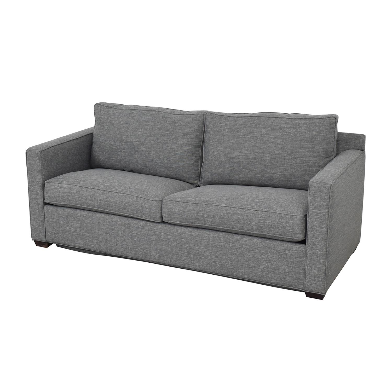 Crate & Barrel Crate & Barrel Davis Queen Sleeper Sofa grey
