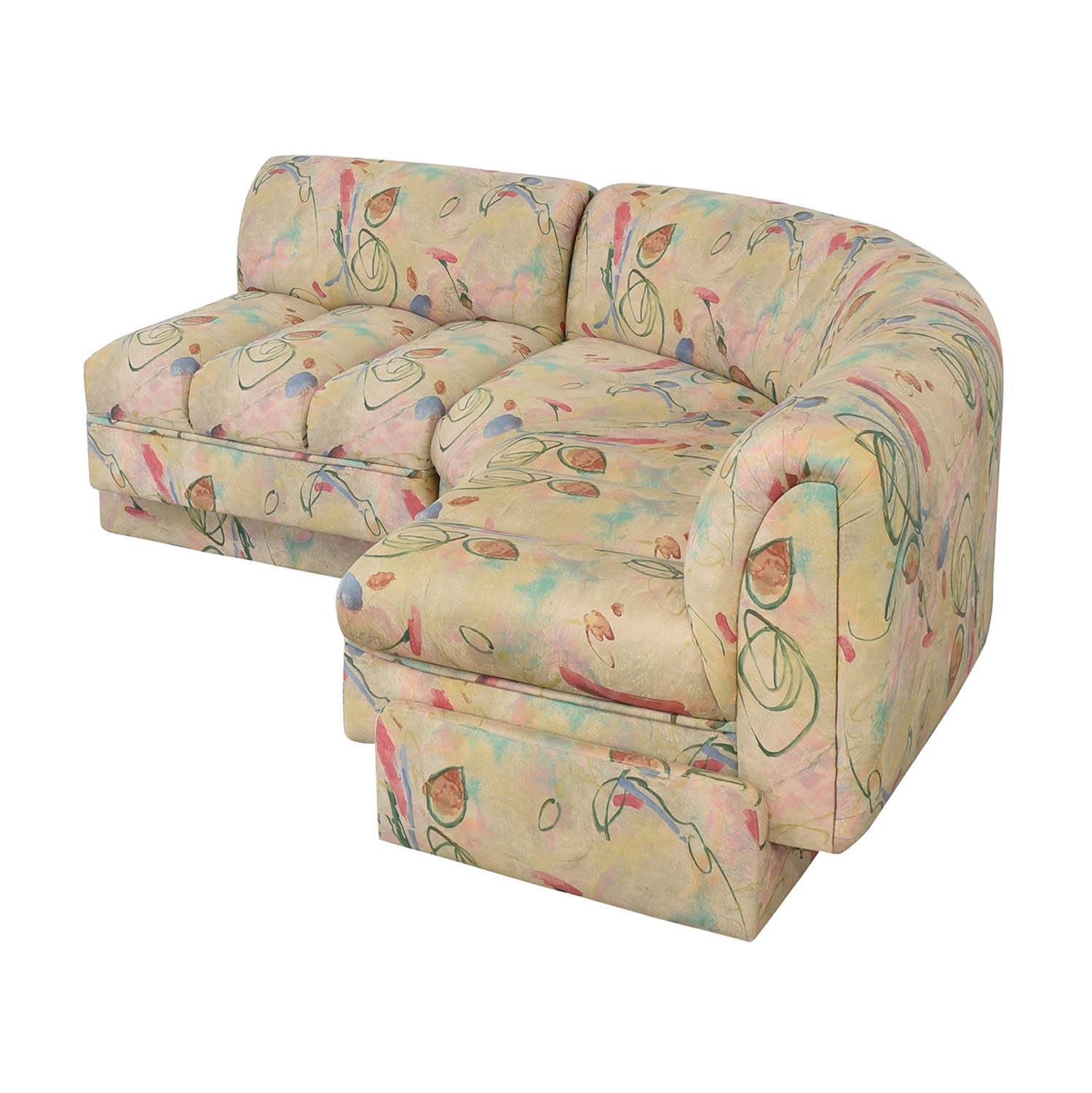 shop Directional Furniture Floral Two Piece Sectional Directional Furniture Sofas