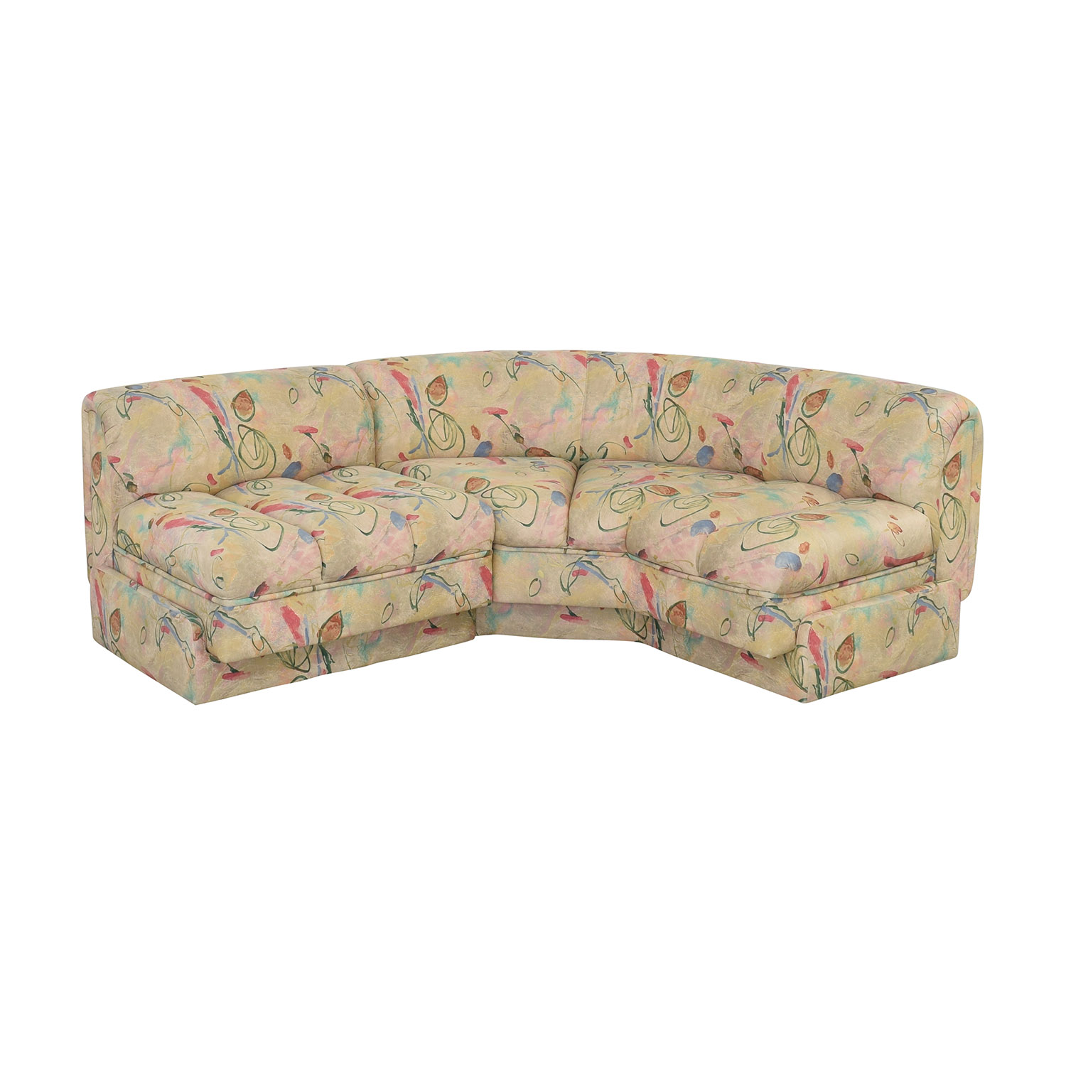 Directional Furniture Floral Two Piece Sectional / Sofas