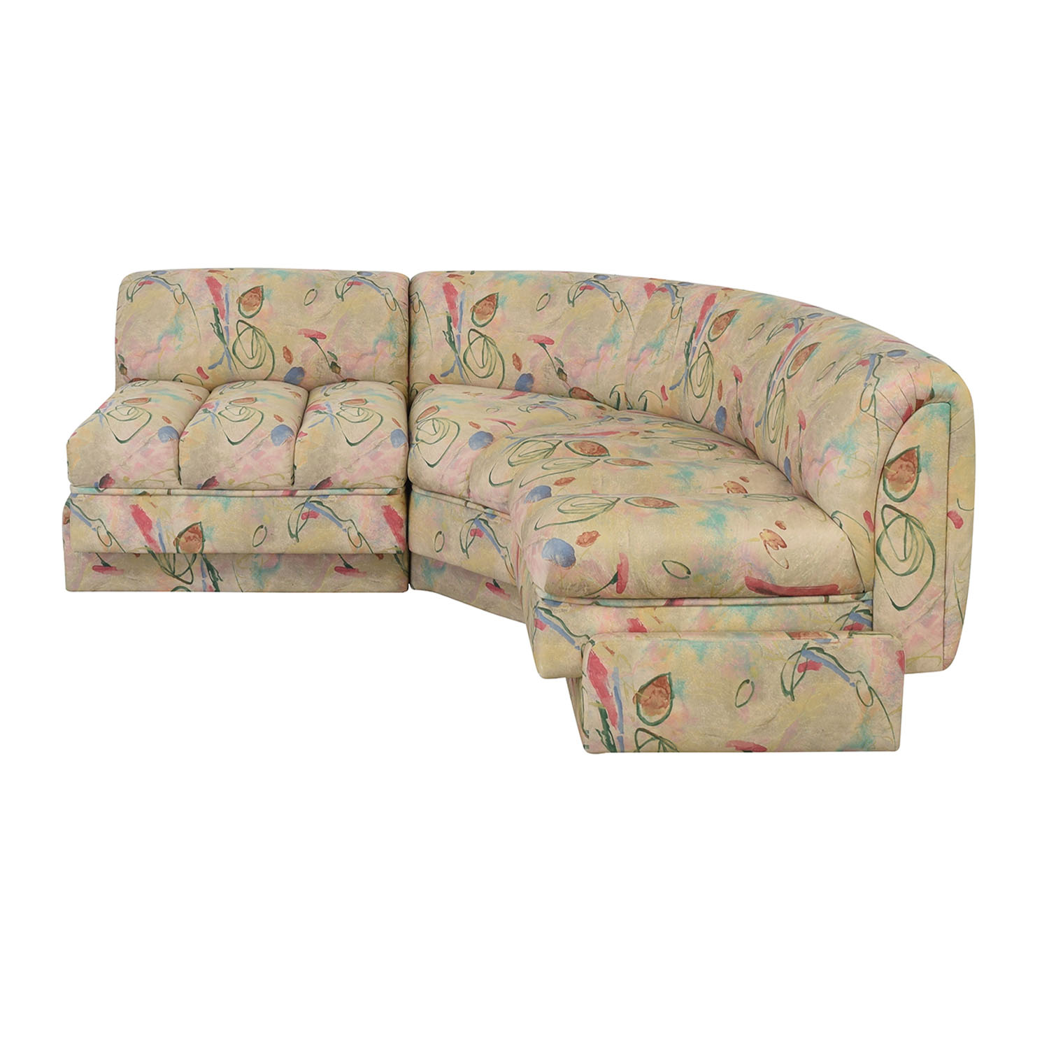 Directional Furniture Floral Two Piece Sectional / Sectionals