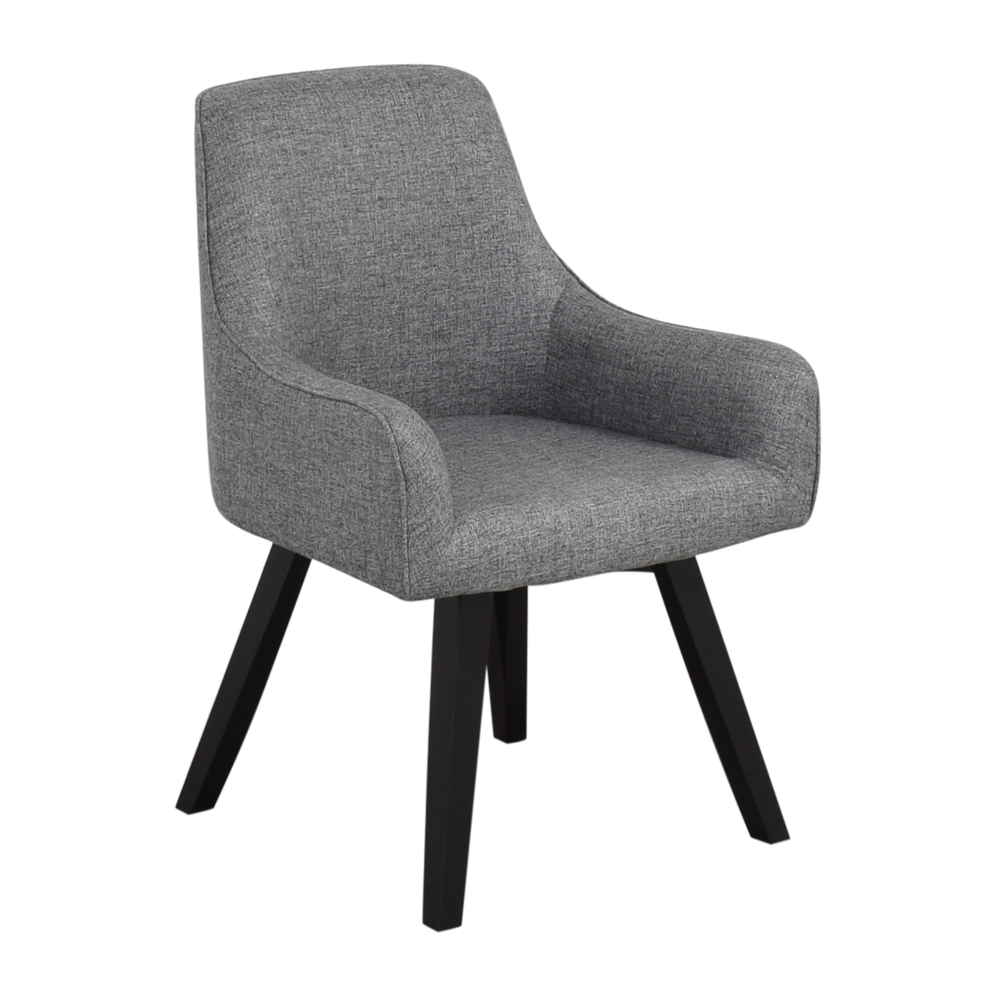 Crate & Barrel Crate & Barrel Harvey Black Chair Accent Chairs