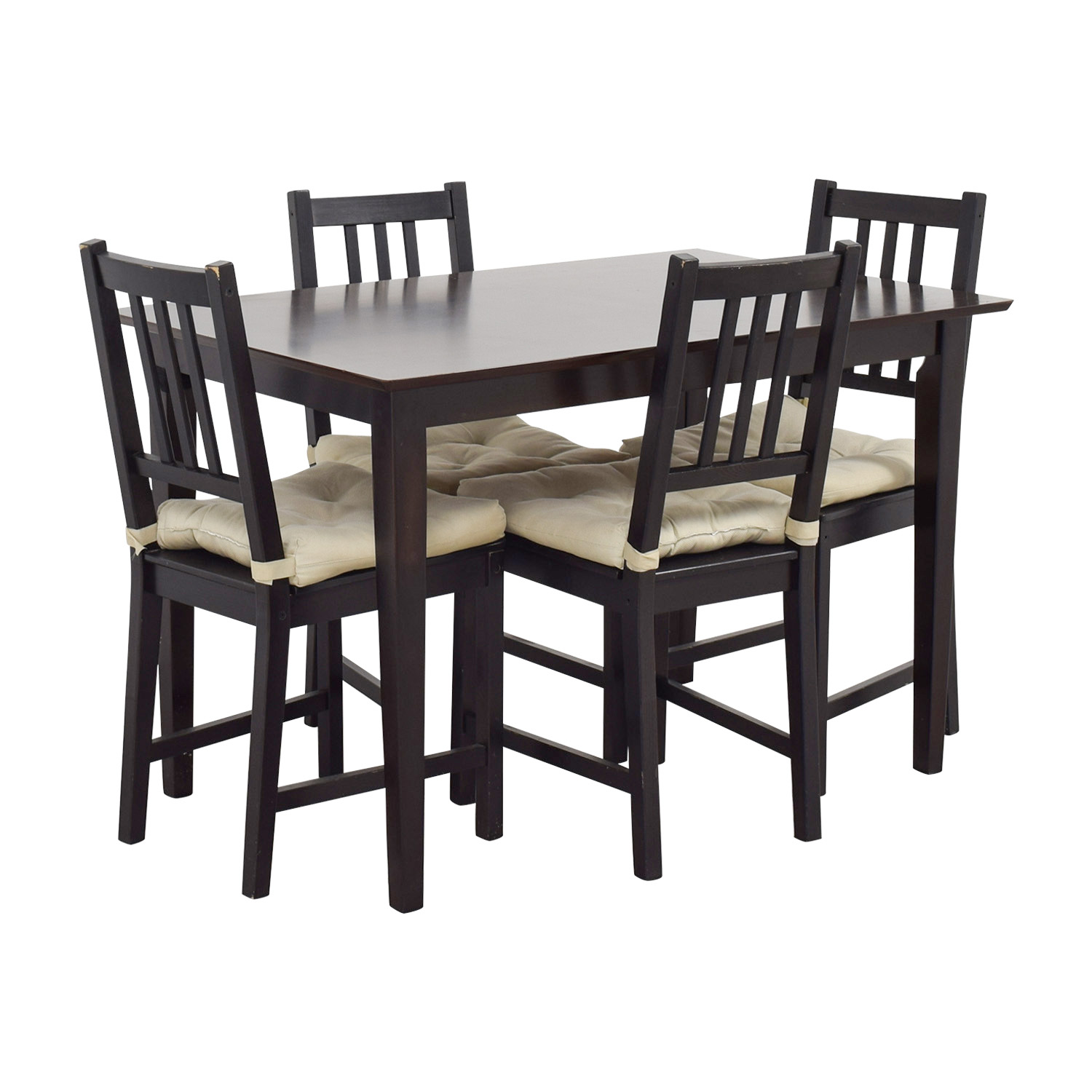 63 off ikea ikea brown wood dining set tables. Black Bedroom Furniture Sets. Home Design Ideas