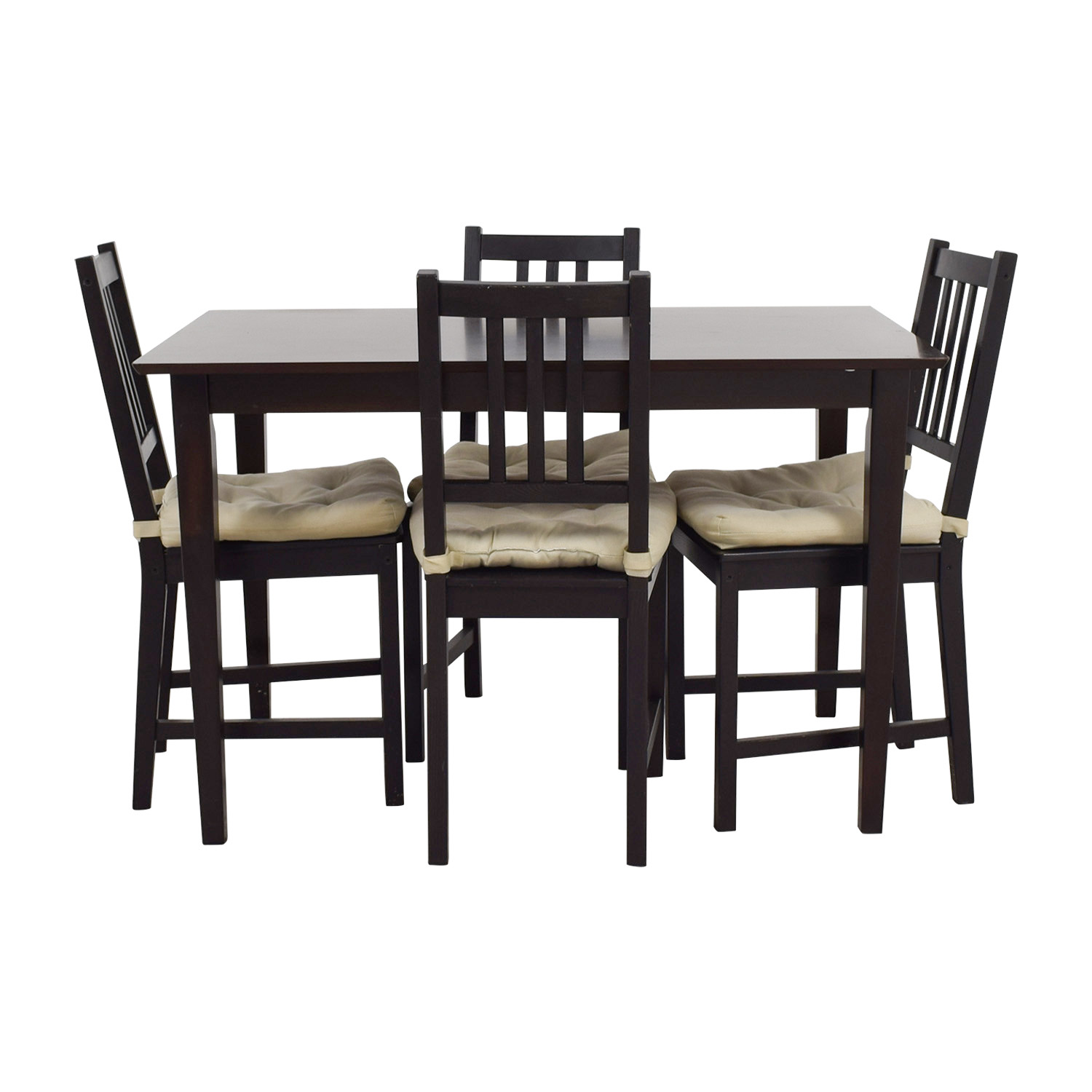63 Off Ikea Ikea Brown Wood Dining Set Tables