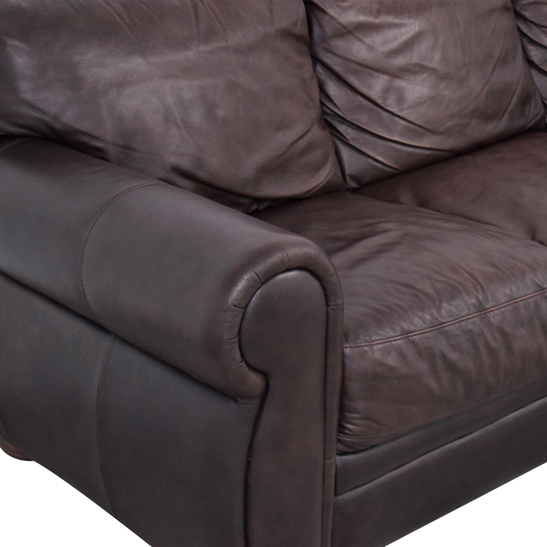 Raymour & Flanigan Raymour & Flanigan Masala  Leather Sofa used