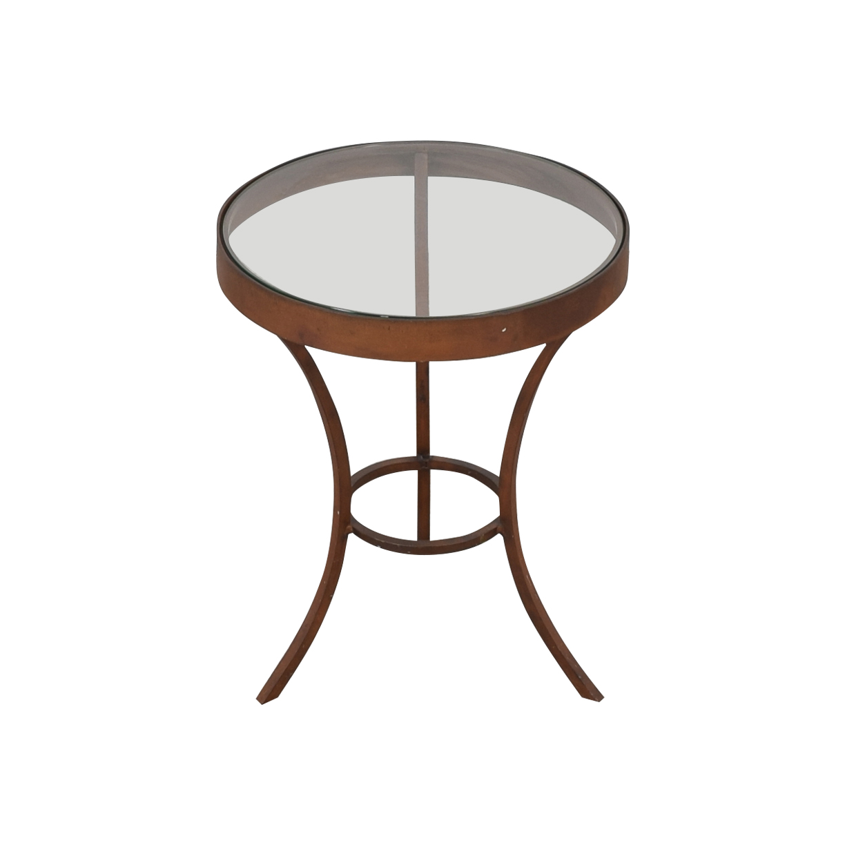 shop Crate & Barrel Side Table with Glass Top Crate & Barrel Accent Tables