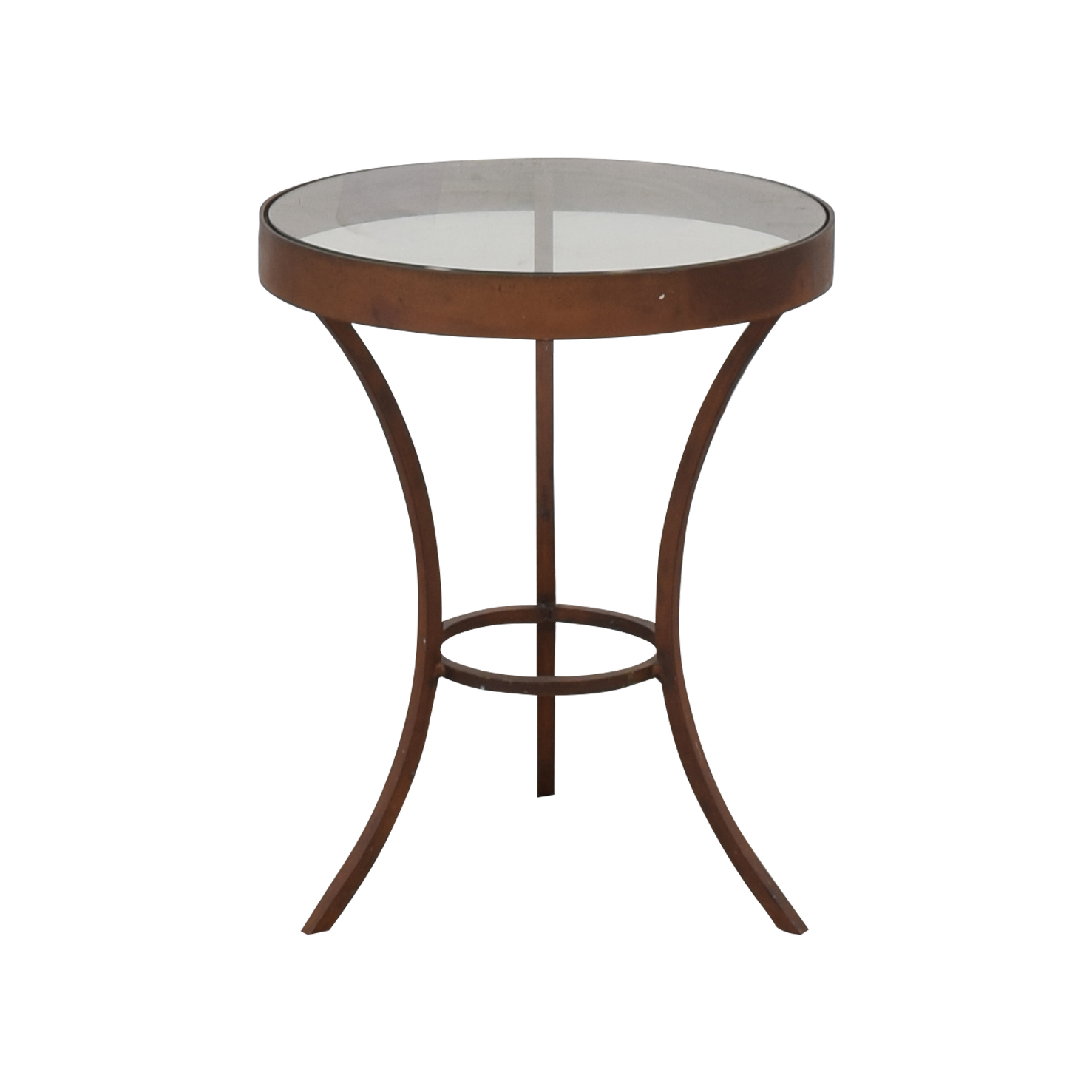 buy Crate & Barrel Crate & Barrel Side Table with Glass Top online