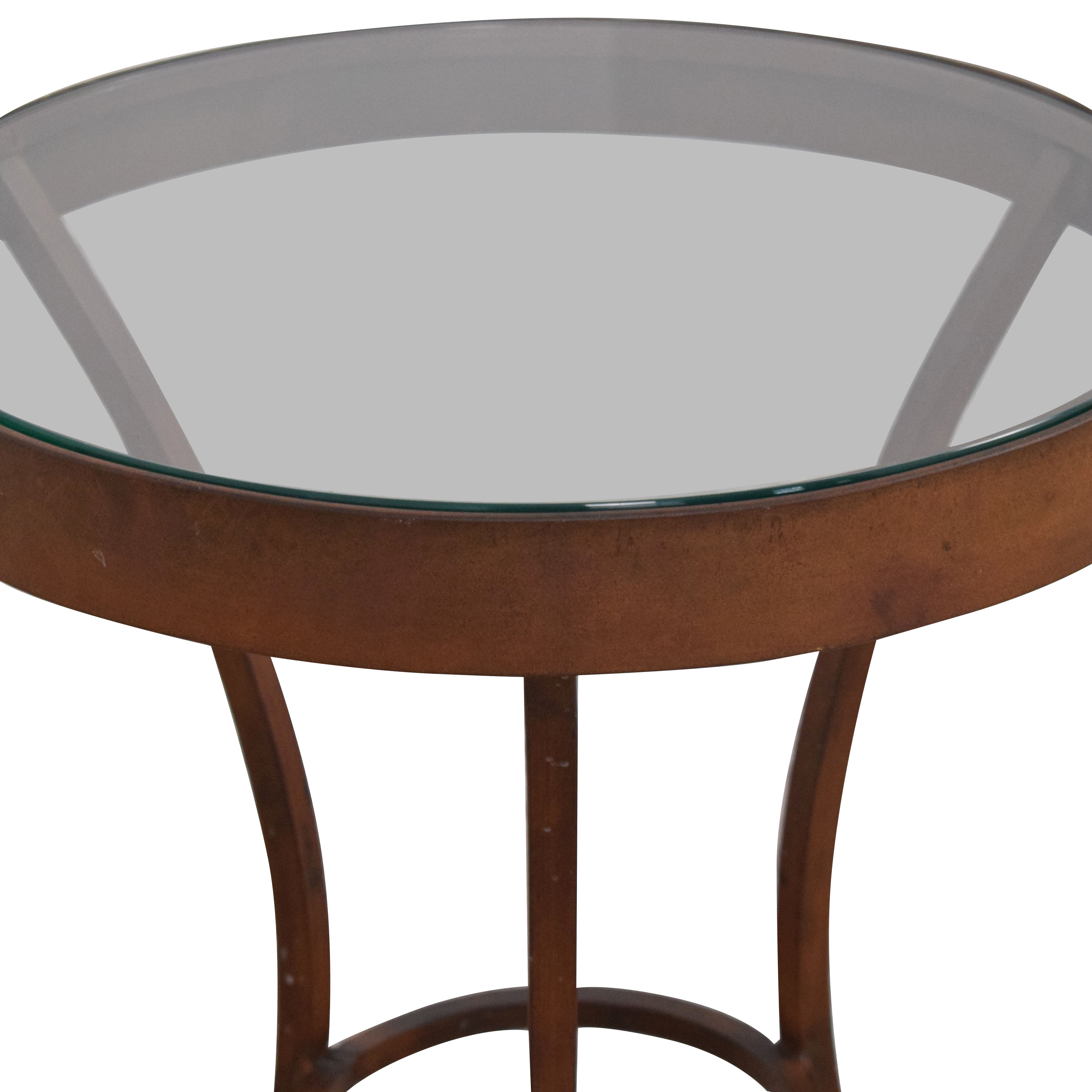 Crate & Barrel Crate & Barrel Side Table with Glass Top dimensions