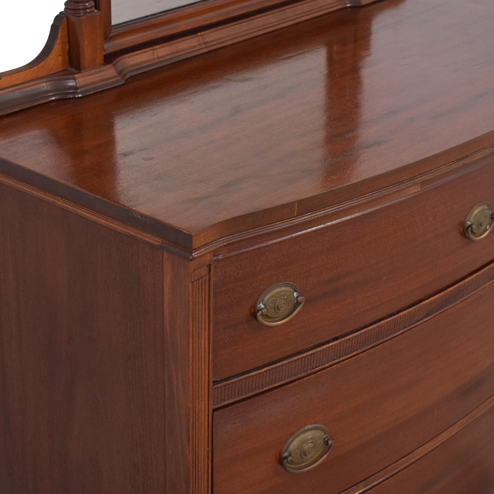 Vintage Wooden Dresser with Mirror Dressers