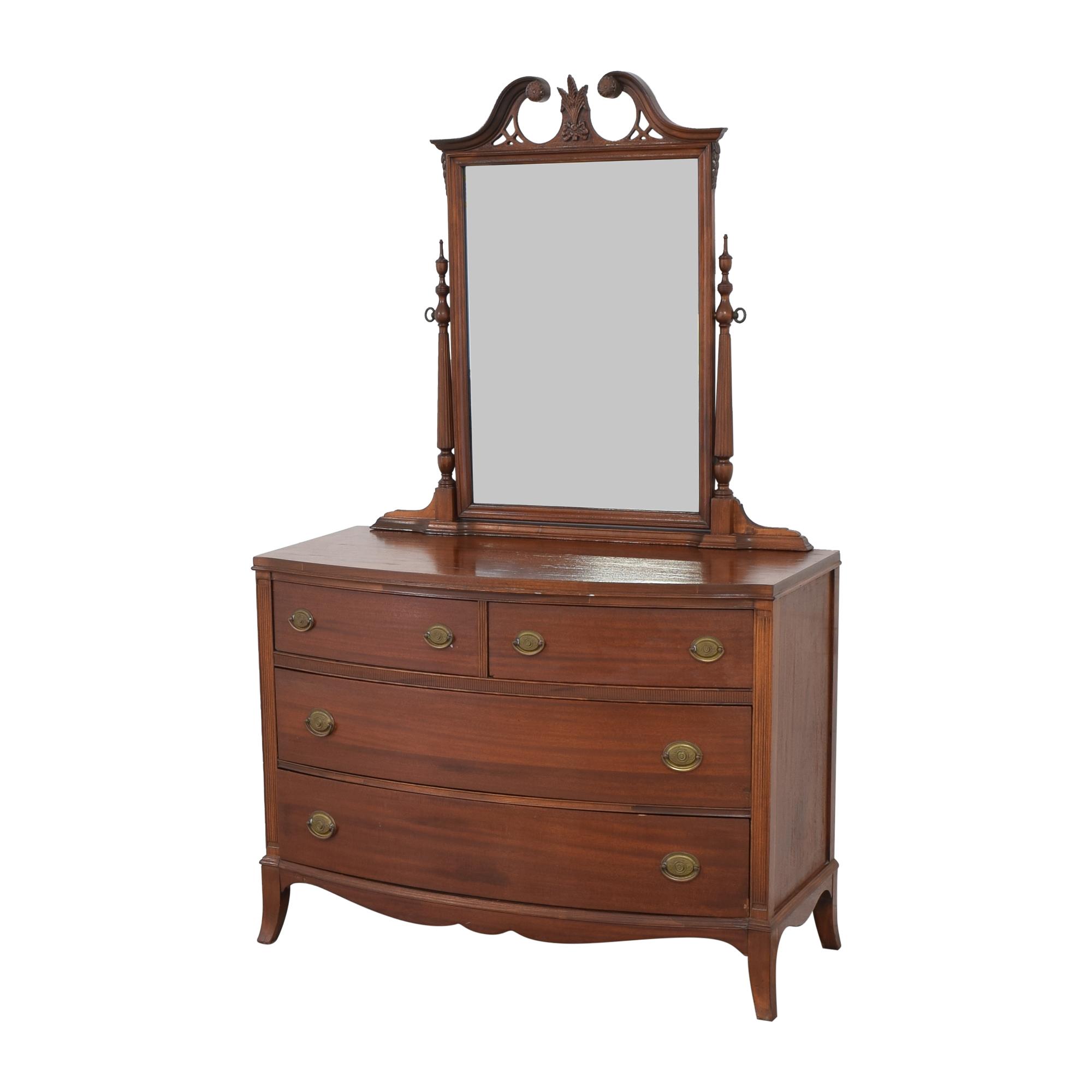 Vintage Wooden Dresser with Mirror on sale