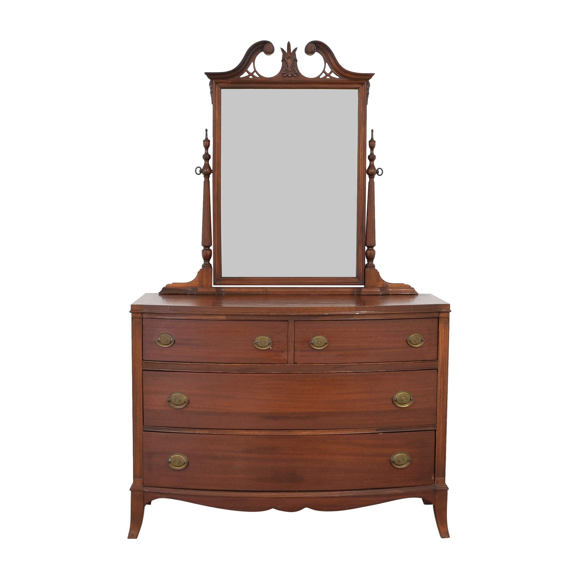 Vintage Wooden Dresser with Mirror for sale