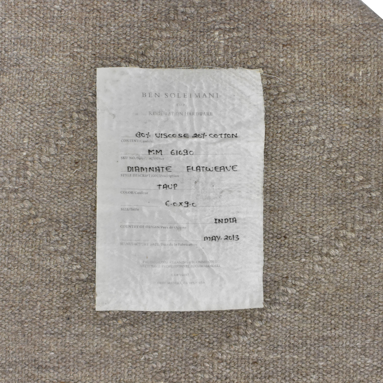 Restoration Hardware Ben Soleimani Diamante Flatweave Linen Rug sale