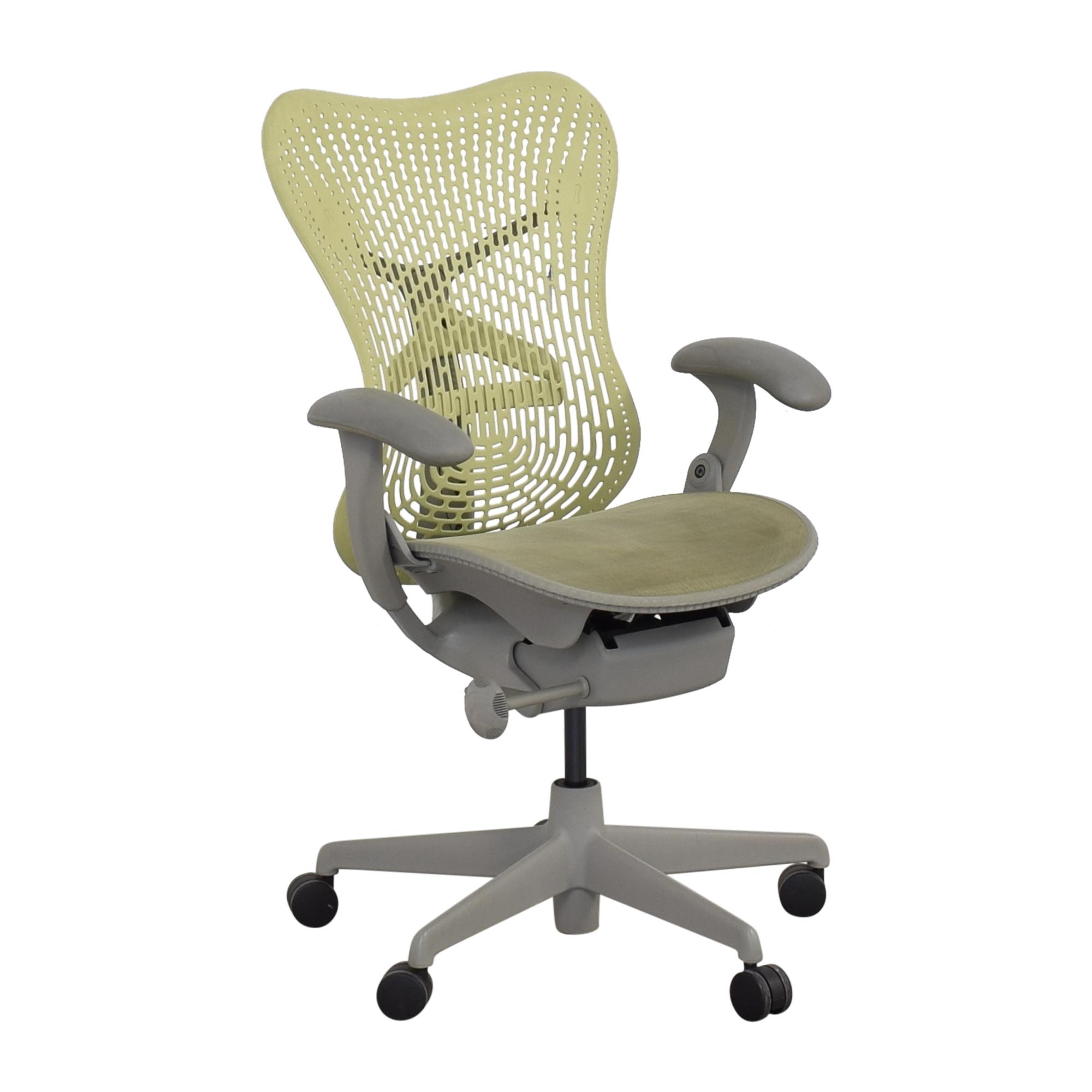 Herman Miller Herman Miller Mirra Chair green and grey