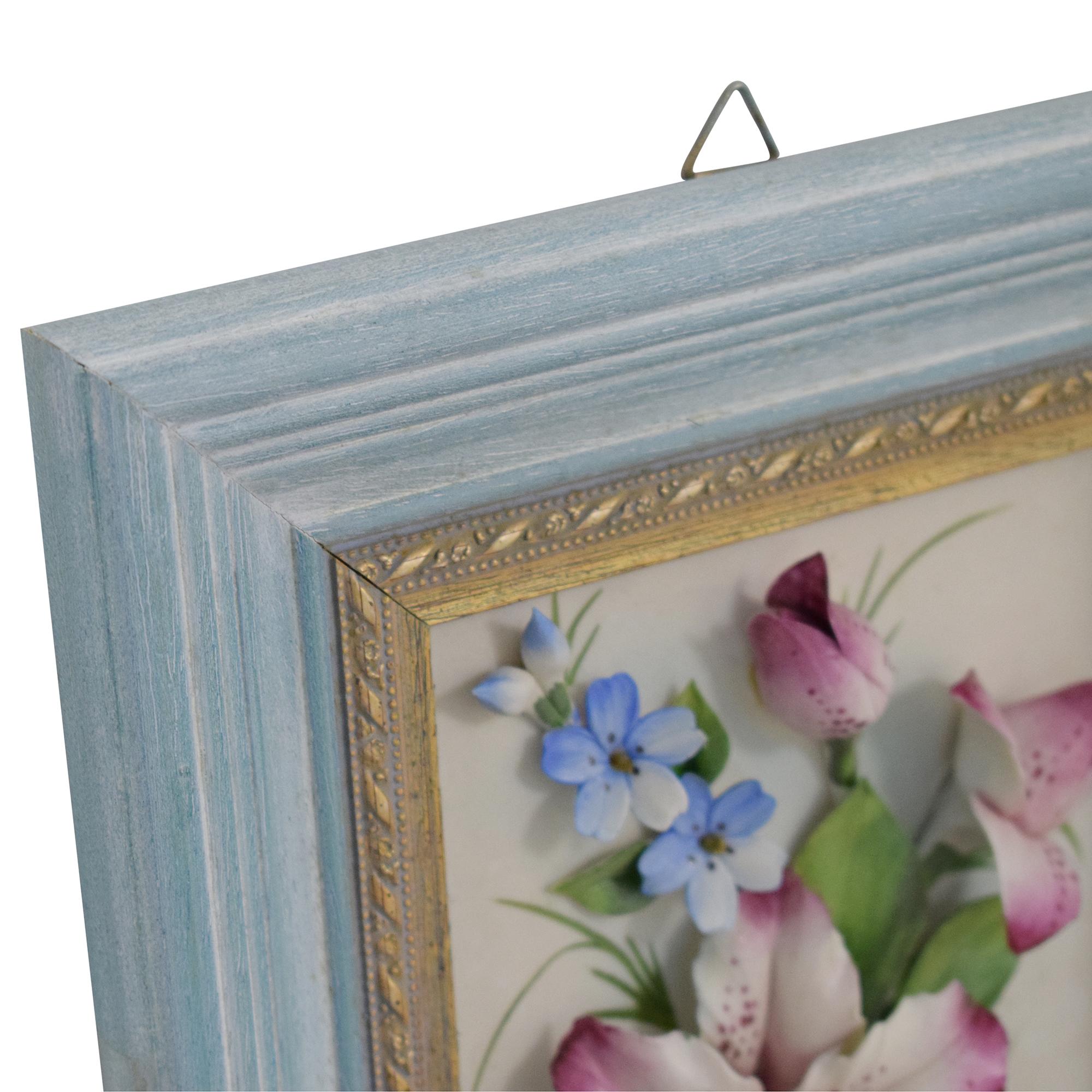 Framed Botanical Box Art / Wall Art