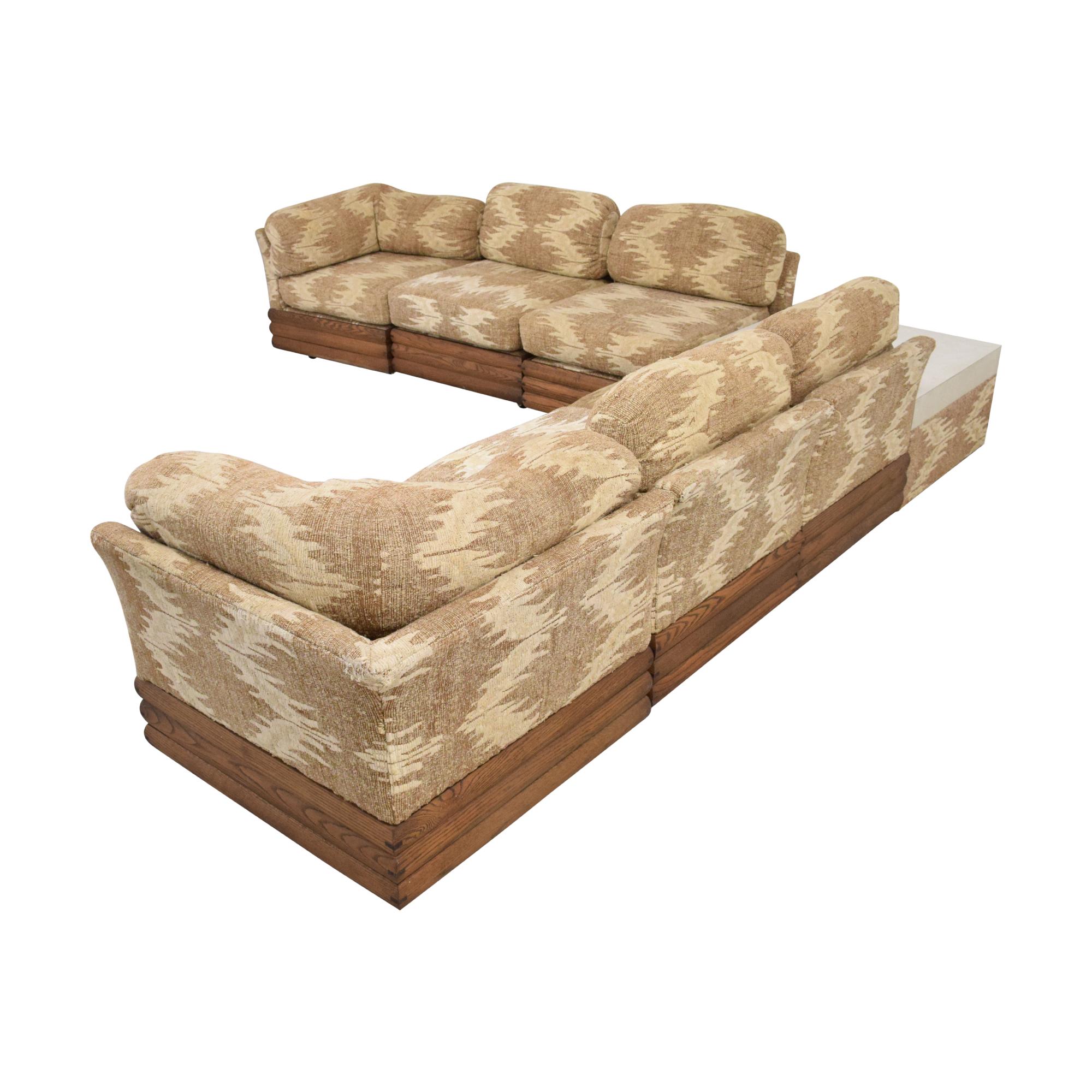 Royal Lounge Sectional Sofa with Corner Table sale