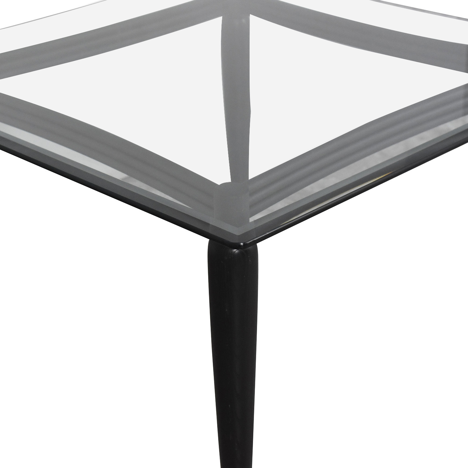Square Dining Table black