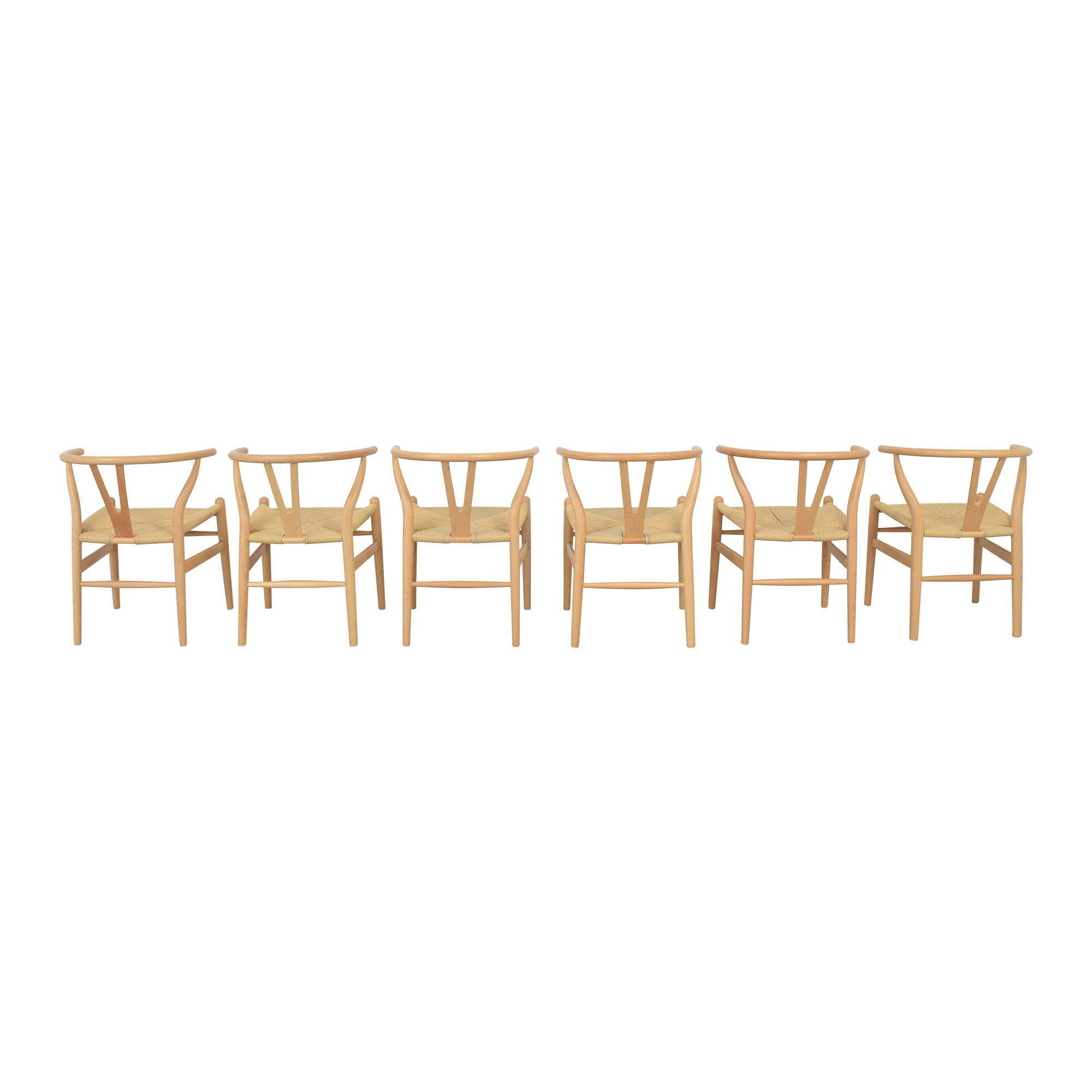 Baxton Studio Baxton Studio Wishbone Modern Brown Wood Dining Chairs ma