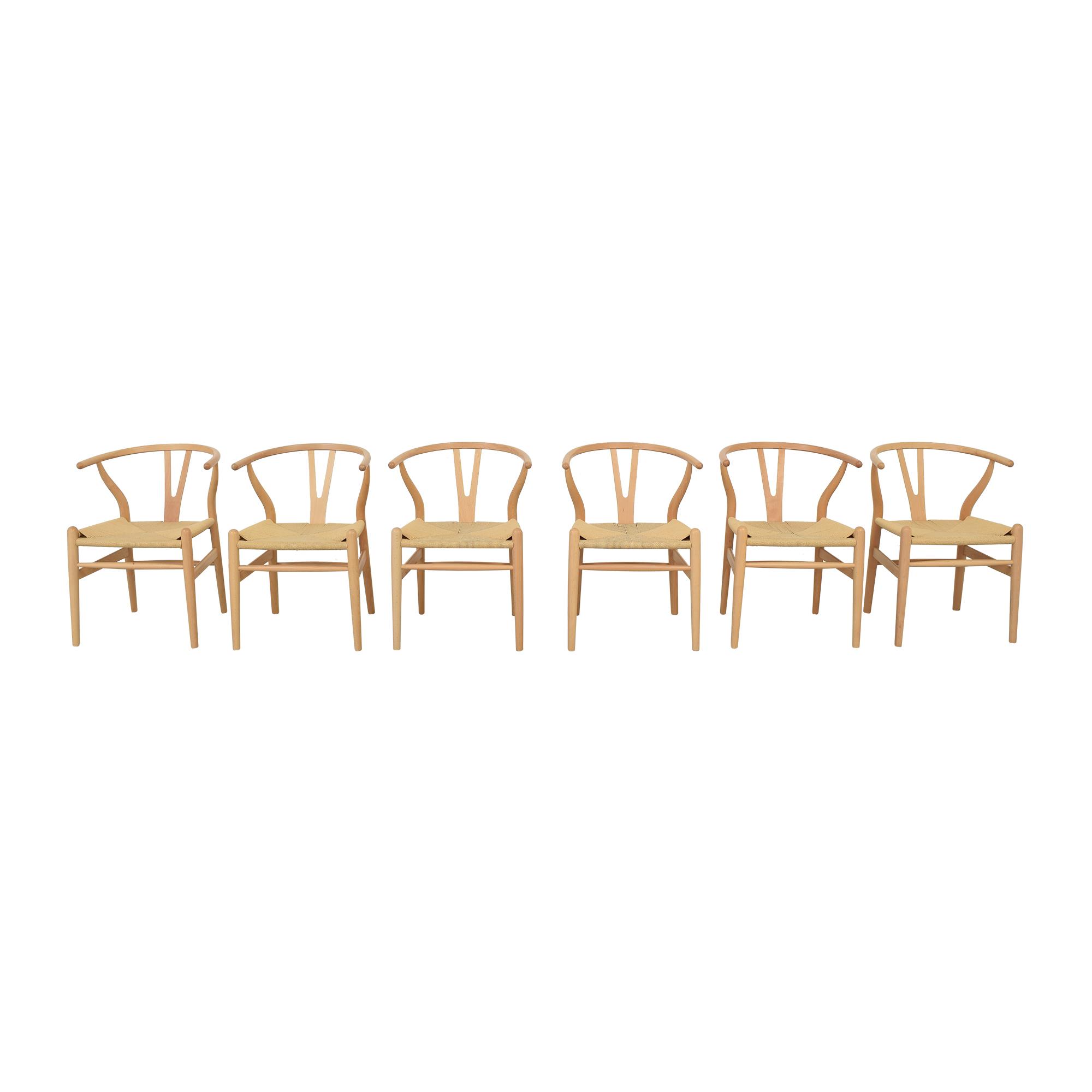 Baxton Studio Baxton Studio Wishbone Modern Brown Wood Dining Chairs nj