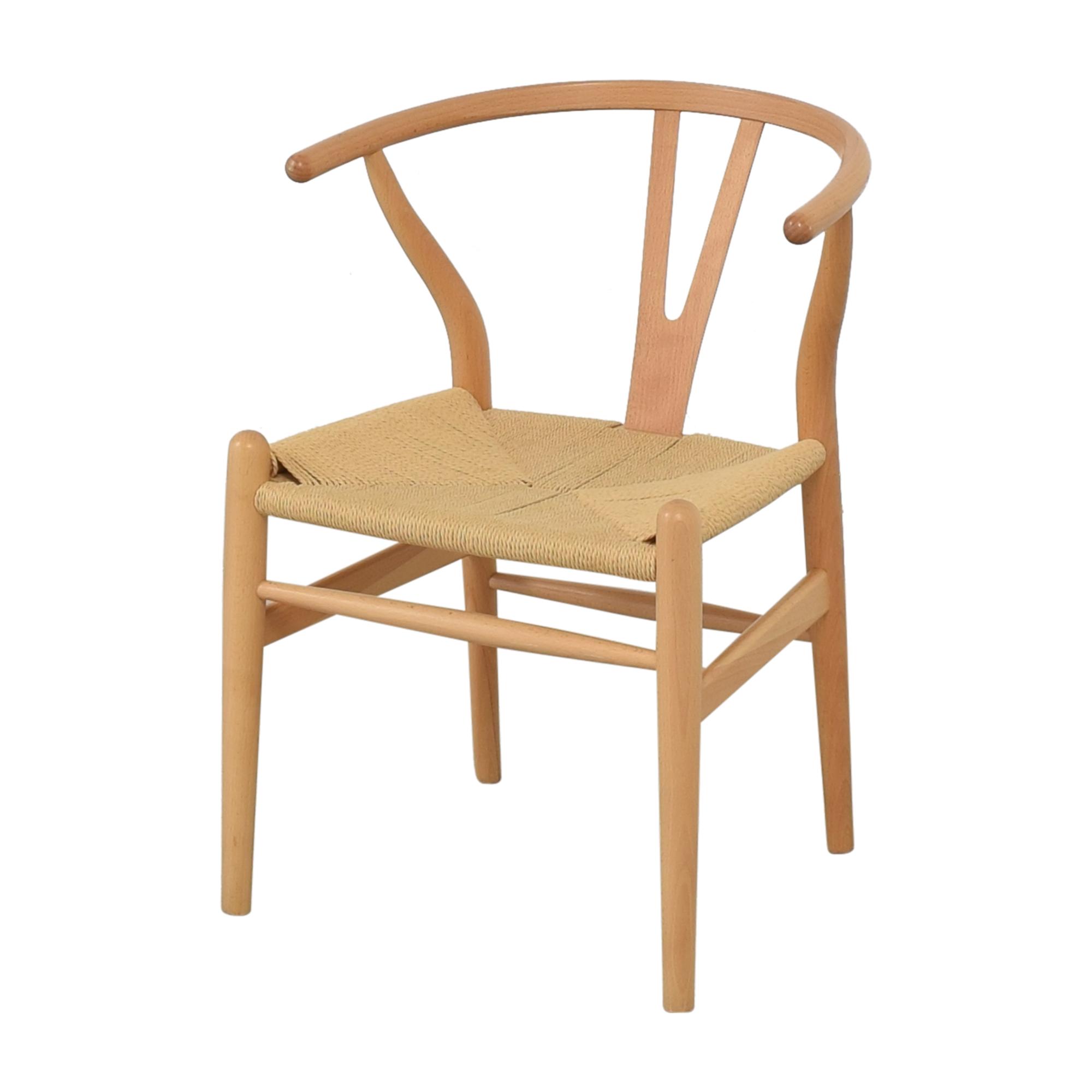 buy Baxton Studio Wishbone Modern Brown Wood Dining Chairs Baxton Studio Chairs