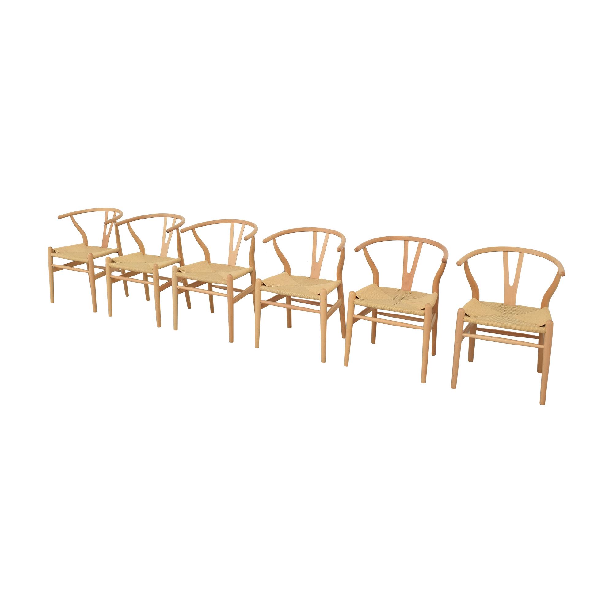 buy Baxton Studio Wishbone Modern Brown Wood Dining Chairs Baxton Studio Dining Chairs