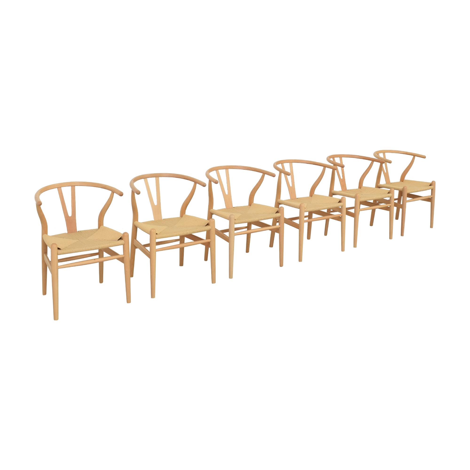 Baxton Studio Wishbone Modern Brown Wood Dining Chairs sale