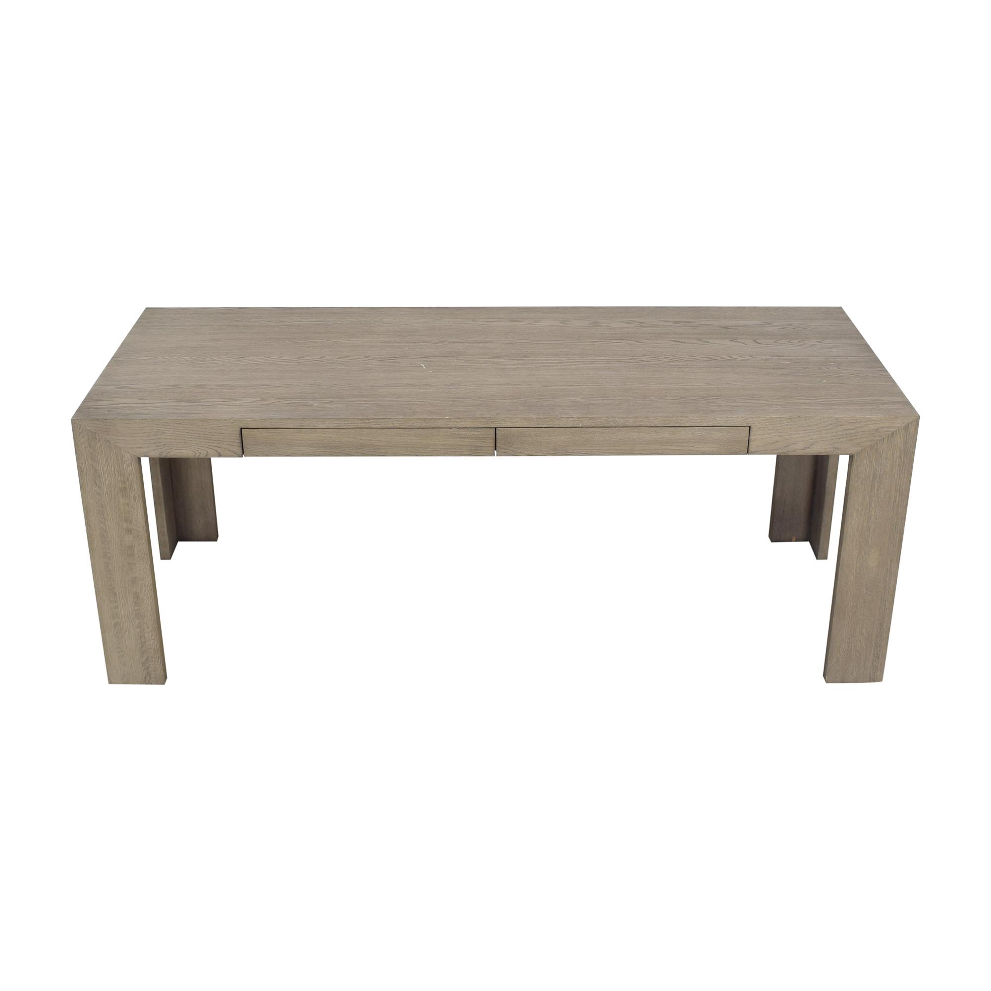 Restoration Hardware Grey Oak Machinto Desk sale