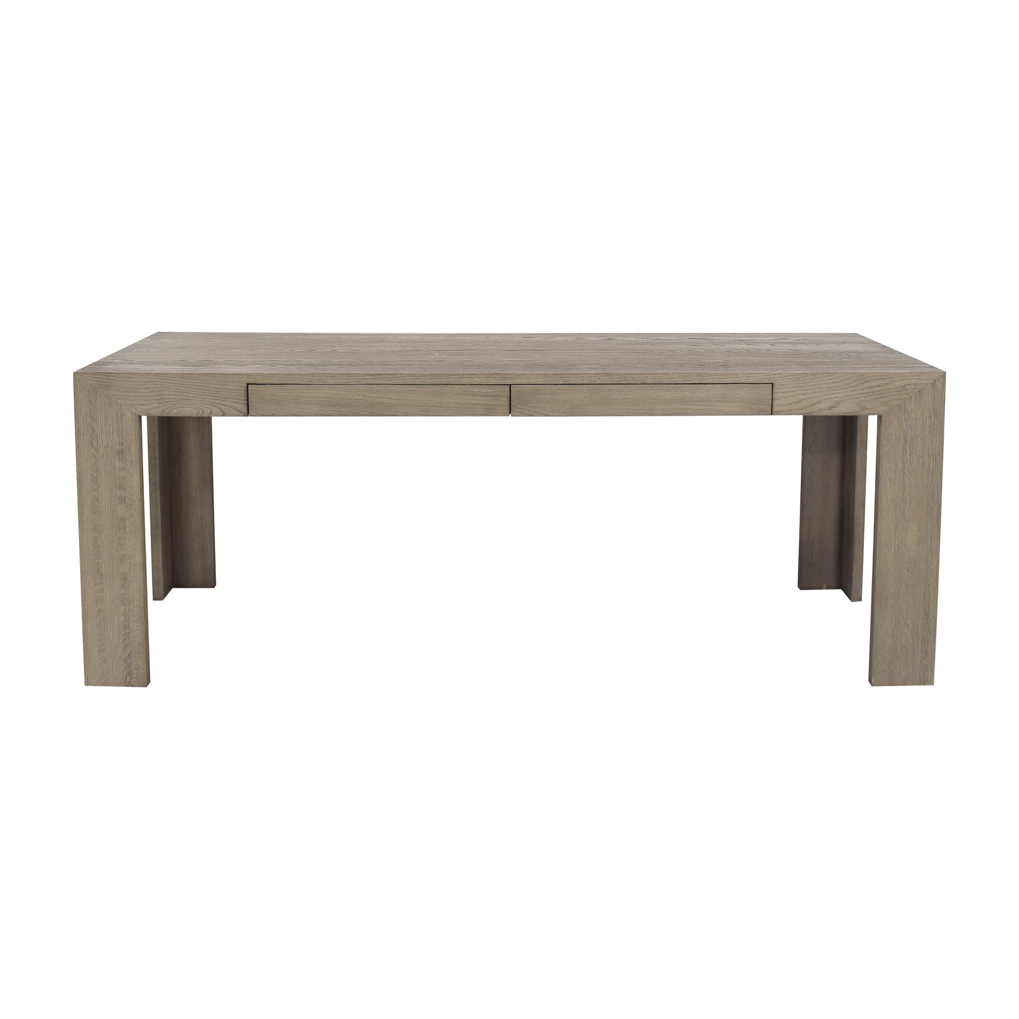 buy Restoration Hardware Restoration Hardware Grey Oak Machinto Desk online