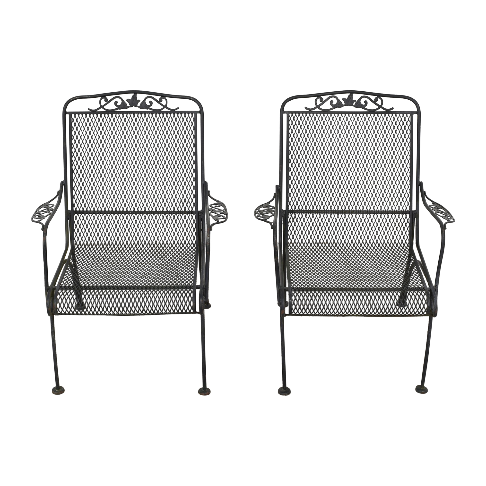 Iron Arm Chairs