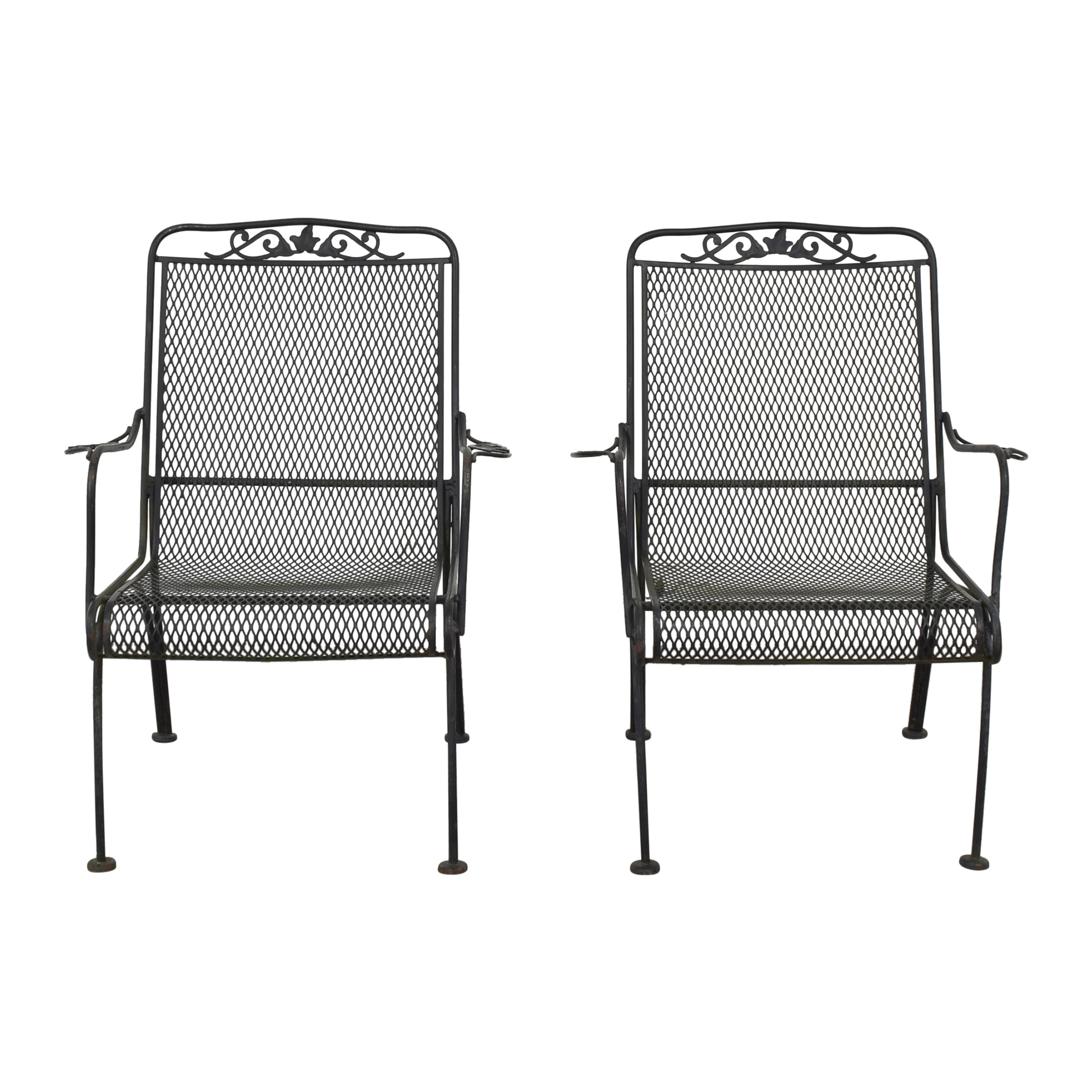 Iron Arm Chairs pa