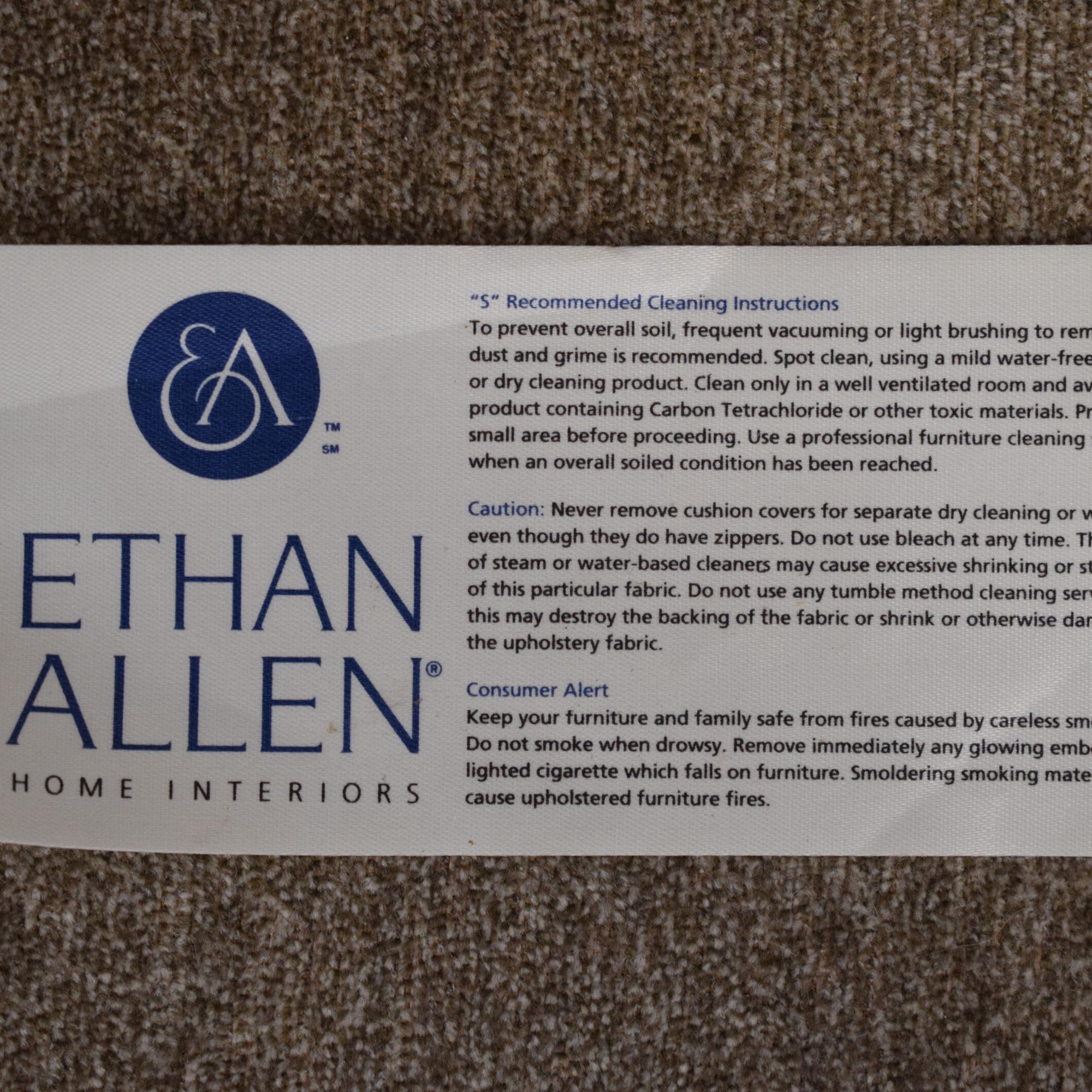Ethan Allen Ethan Allen Two Cushion Sofa dimensions