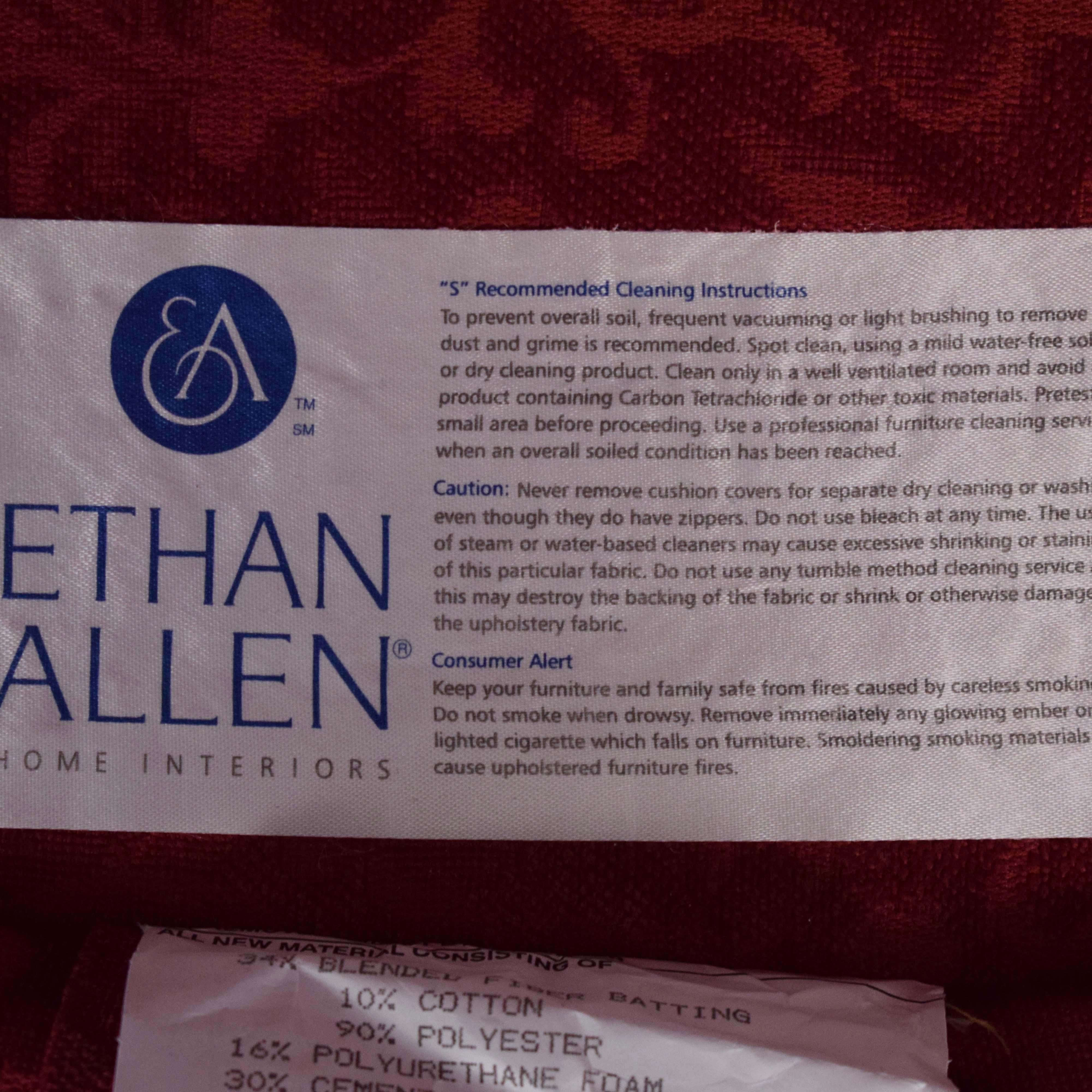 Ethan Allen Ethan Allen Bennett Loveseat red