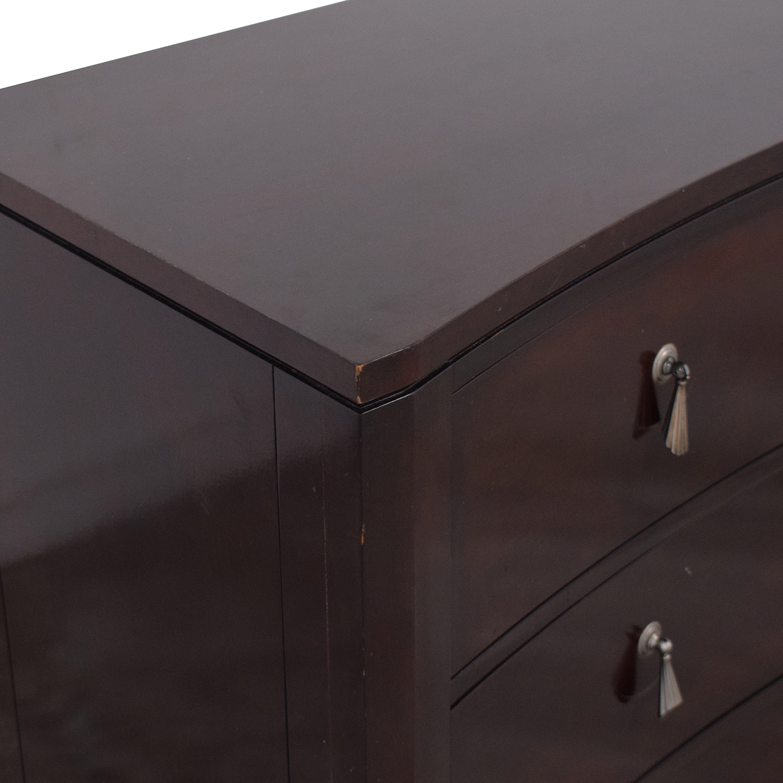 Ethan Allen Avenue Curved Six Drawer Dresser / Dressers