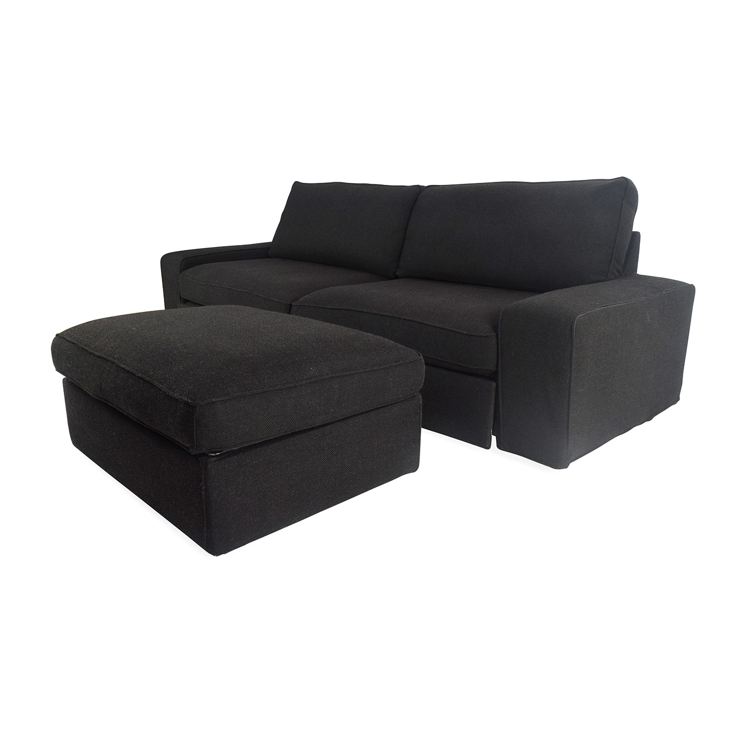 sofas with ottomans thesofa. Black Bedroom Furniture Sets. Home Design Ideas