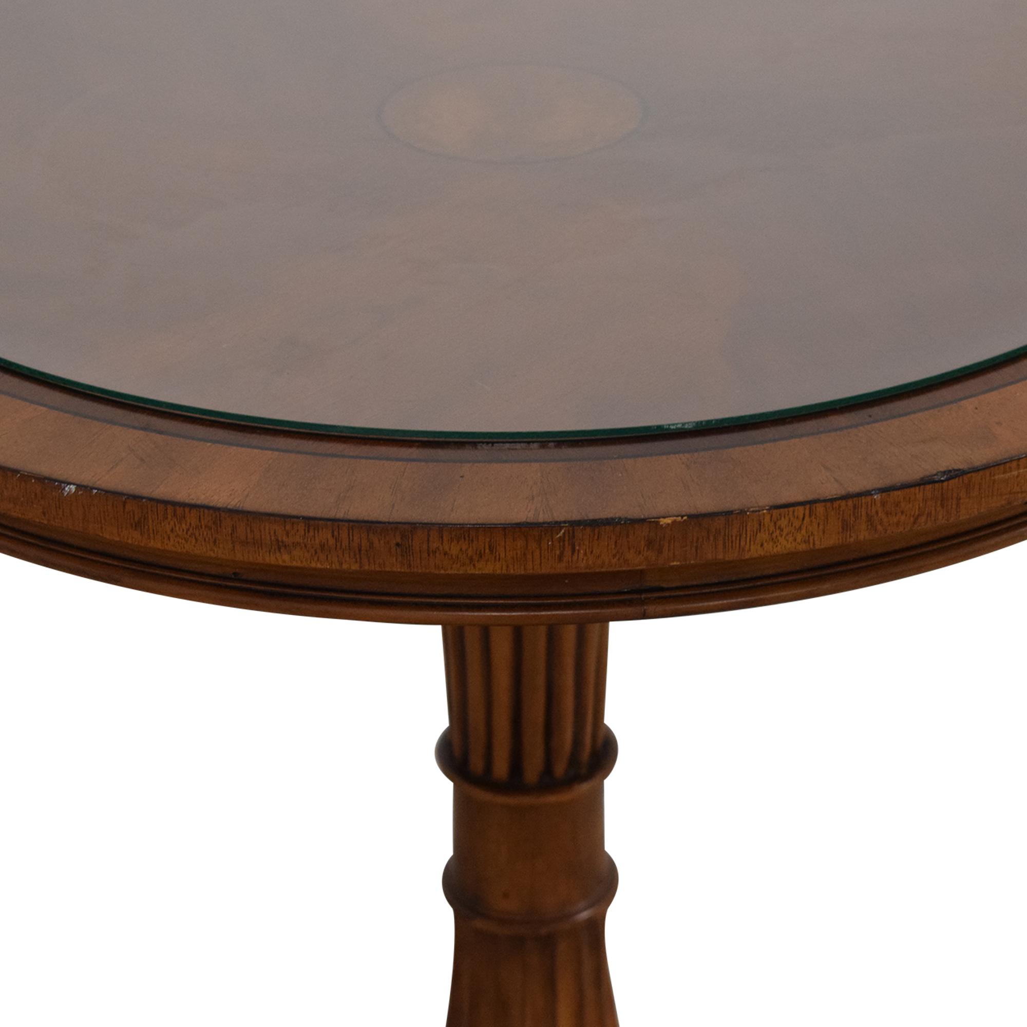 Ethan Allen Ethan Allen Pedestal Table dimensions
