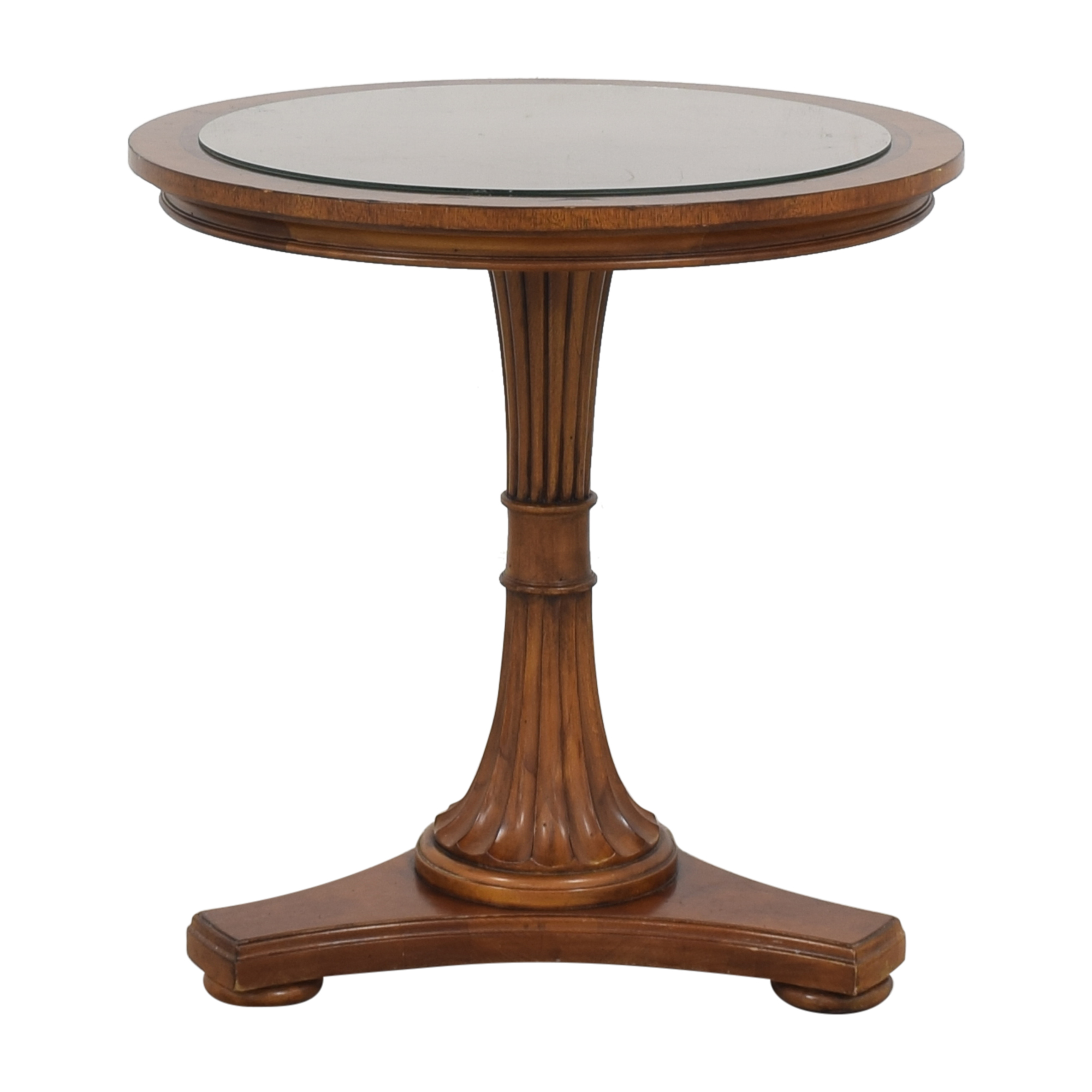 buy Ethan Allen Pedestal Table Ethan Allen Accent Tables