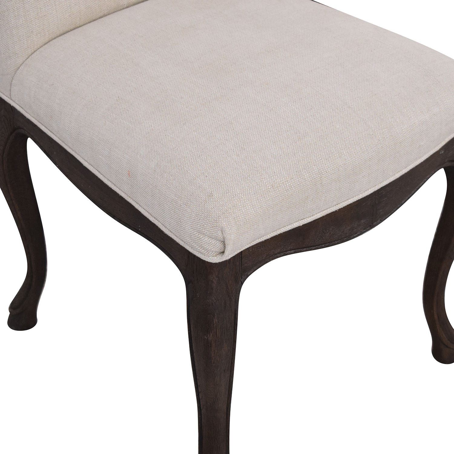 Restoration Hardware Restoration Hardware Louis XV Cabriole Chairs off white and dark brown