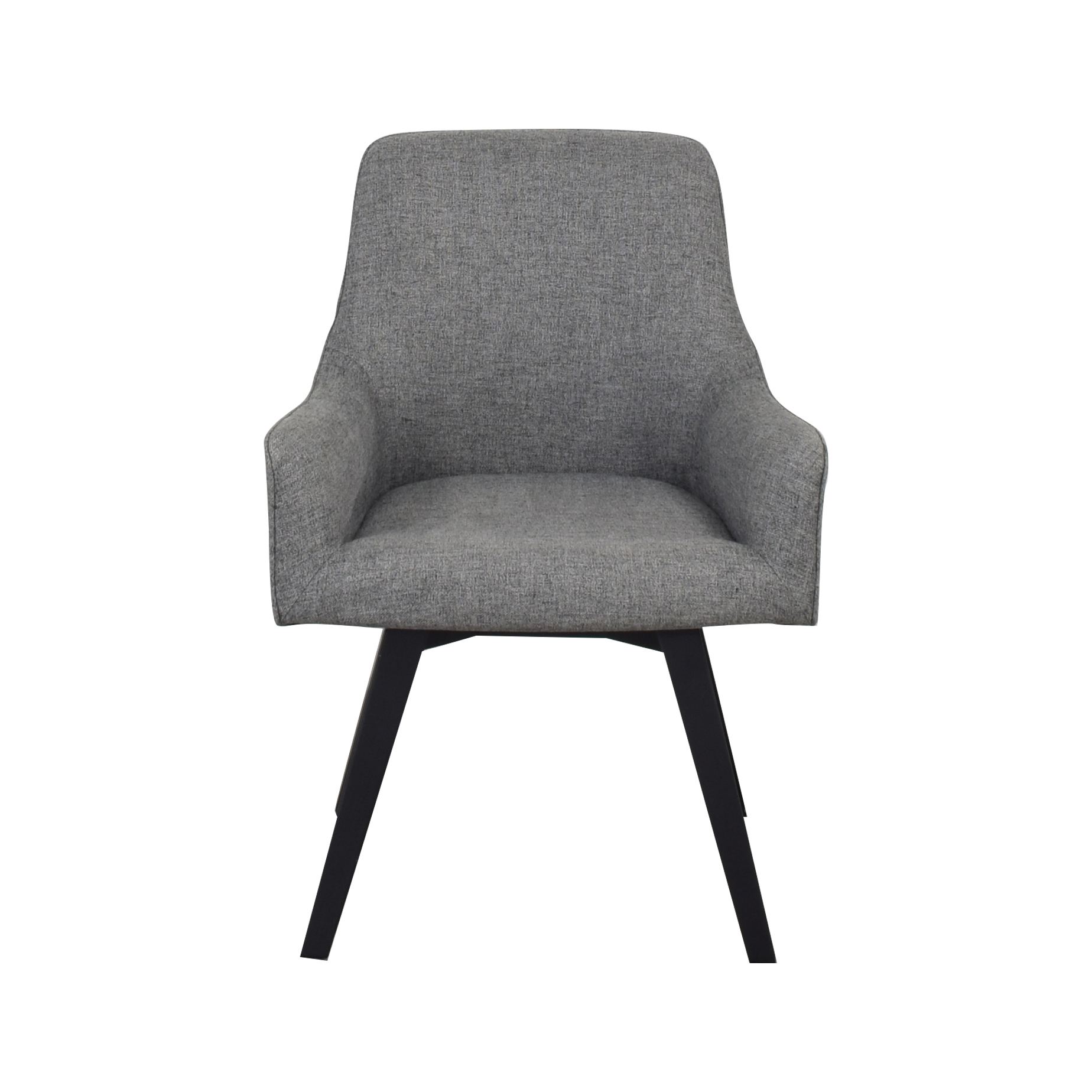 Crate & Barrel Harvey Swivel Armchair / Dining Chairs