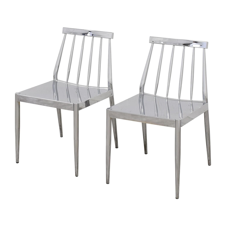 CB2 CB2 Hemstad Chrome Chairs used