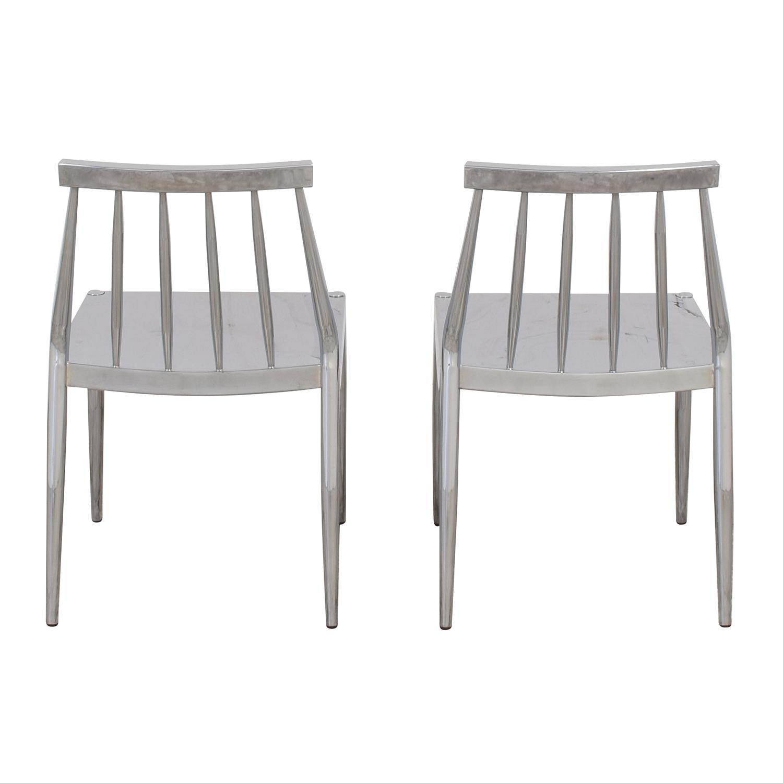 CB2 CB2 Hemstad Chrome Chairs ct